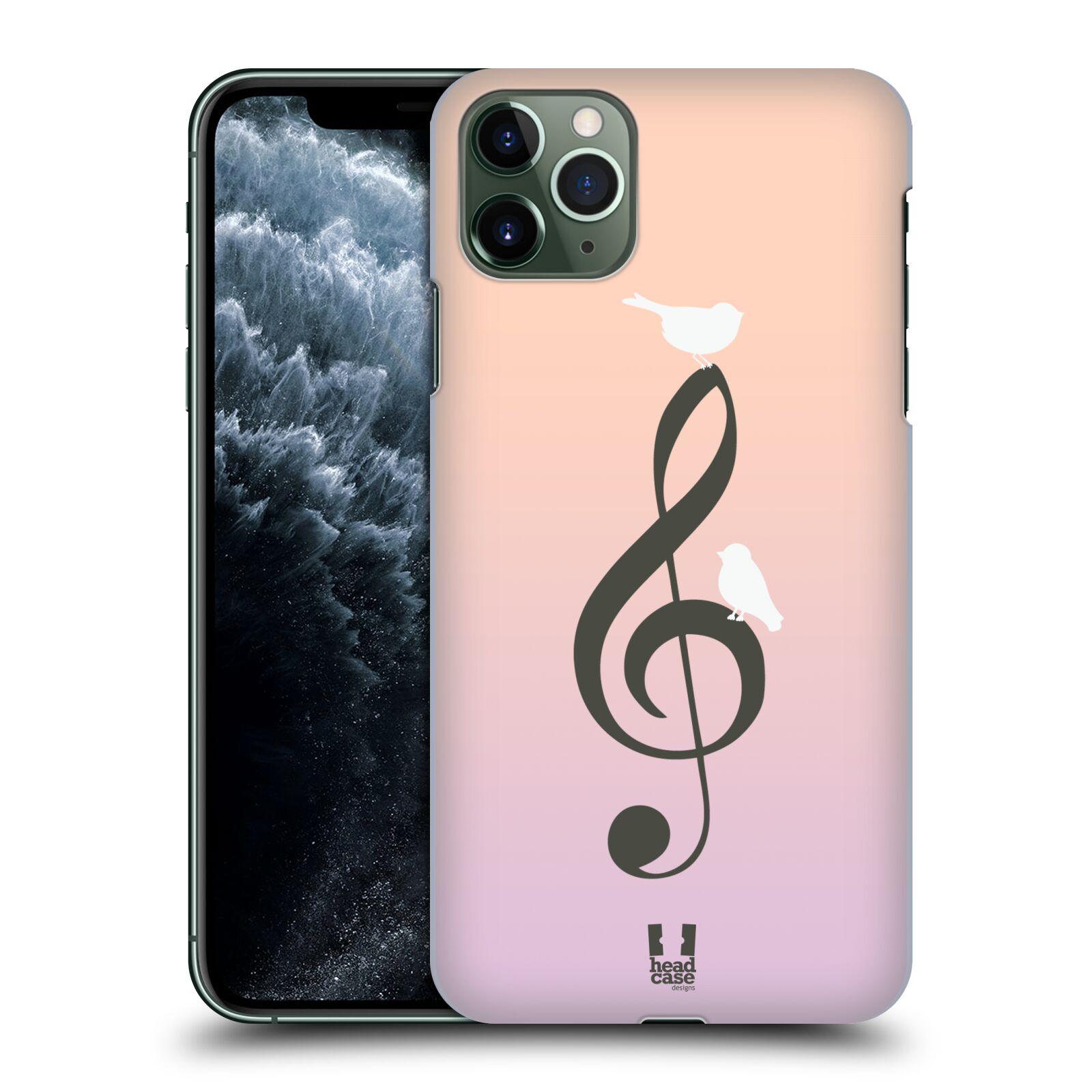 Pouzdro na mobil Apple Iphone 11 PRO MAX - HEAD CASE - vzor Ptáček zpěváček noty nota