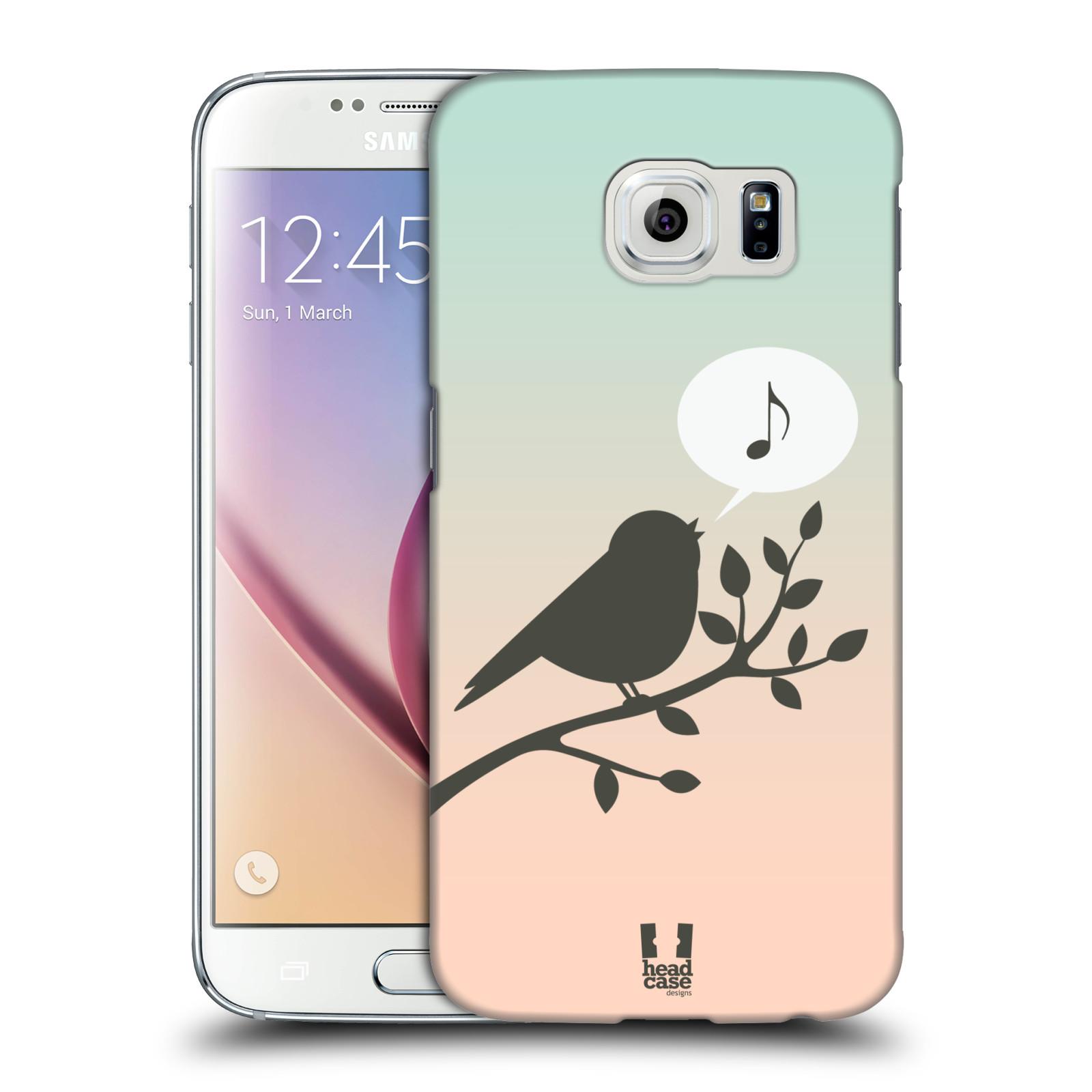 HEAD CASE plastový obal na mobil SAMSUNG Galaxy S6 (G9200, G920F) vzor Ptáček zpěváček noty píseň