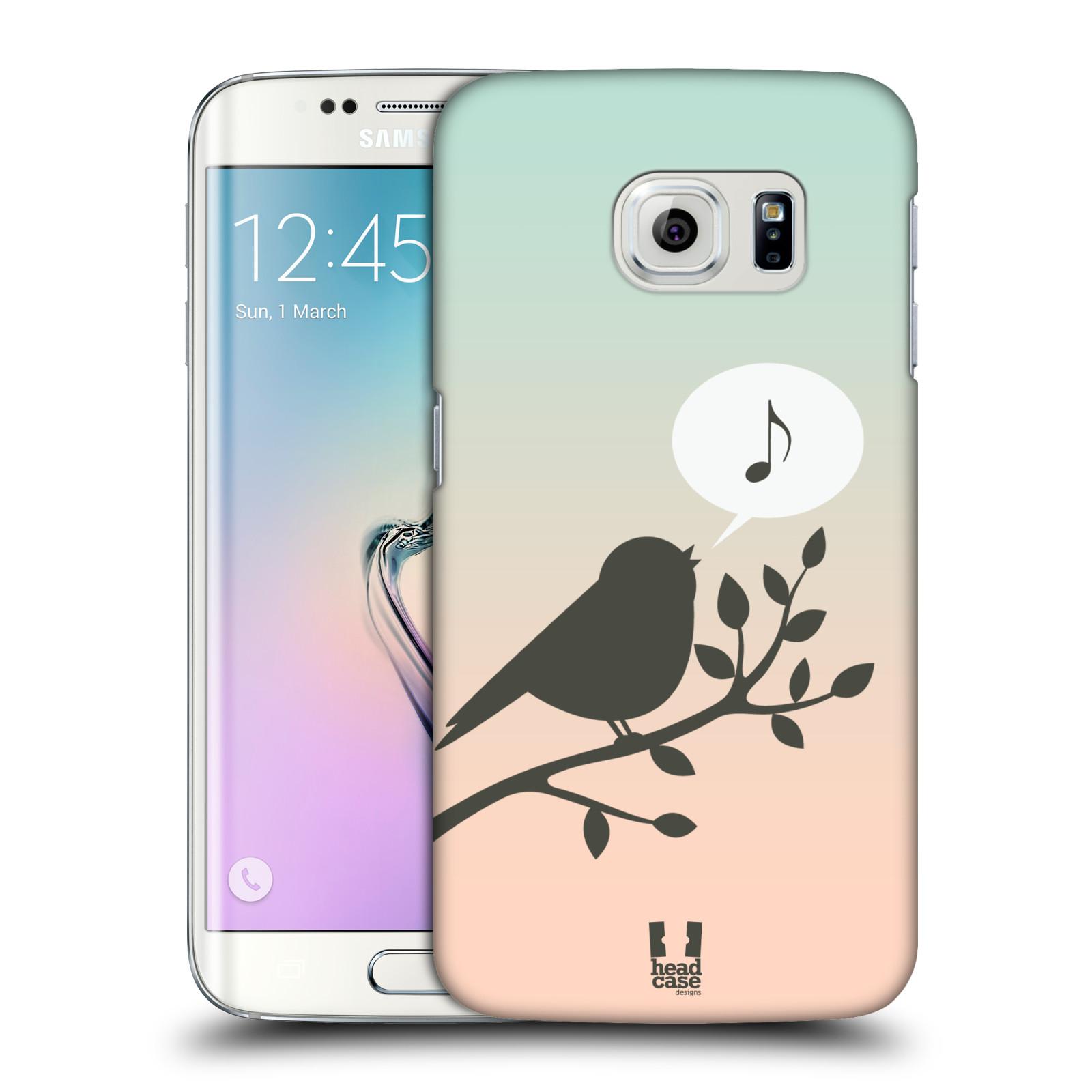 HEAD CASE plastový obal na mobil SAMSUNG Galaxy S6 EDGE (G9250, G925, G925F) vzor Ptáček zpěváček noty píseň
