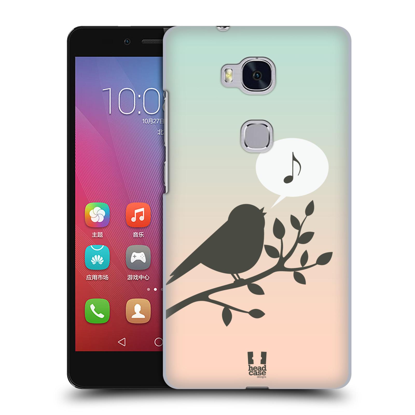 HEAD CASE pevný plastový obal na mobil HUAWEI HONOR 5X vzor Ptáček zpěváček noty píseň