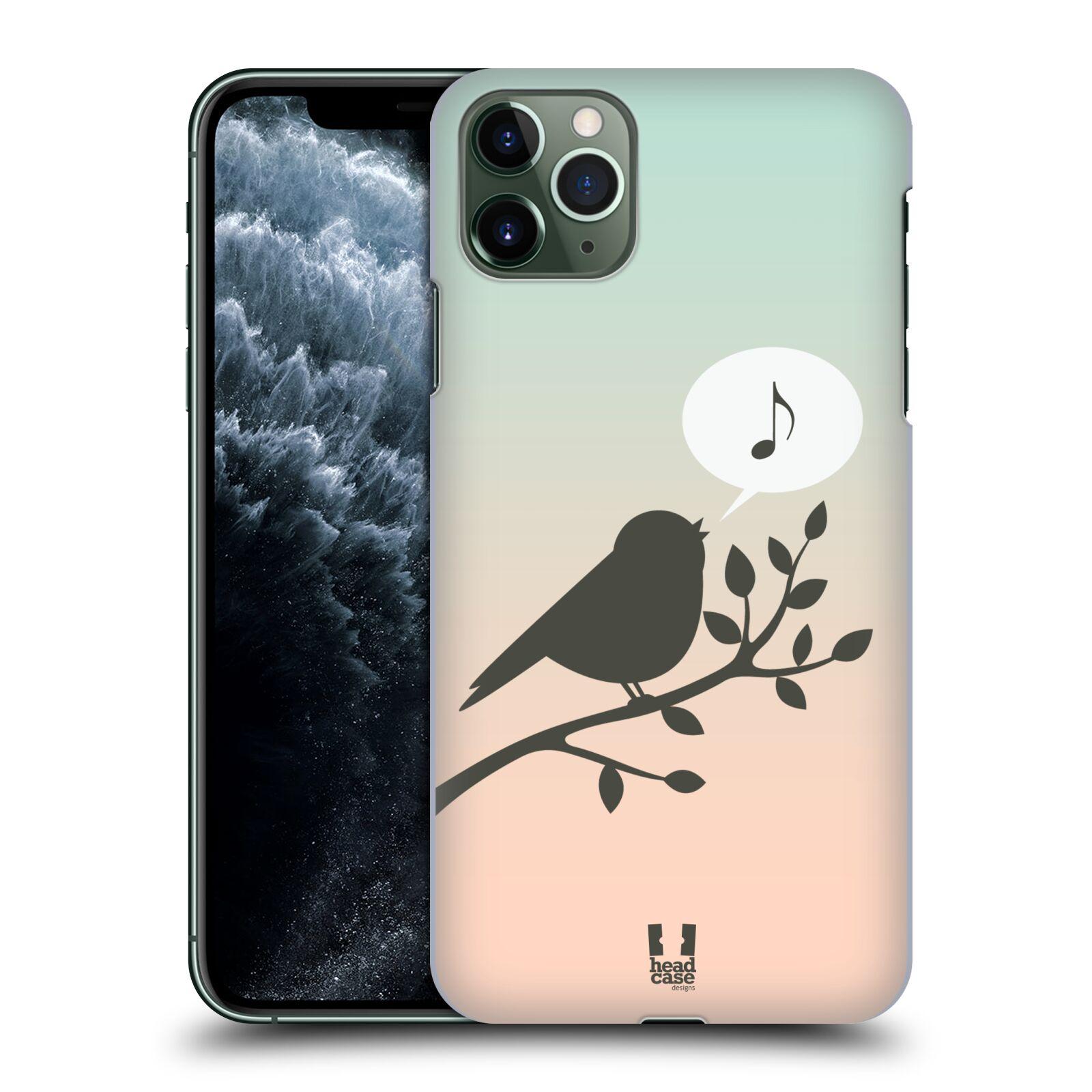 Pouzdro na mobil Apple Iphone 11 PRO MAX - HEAD CASE - vzor Ptáček zpěváček noty píseň