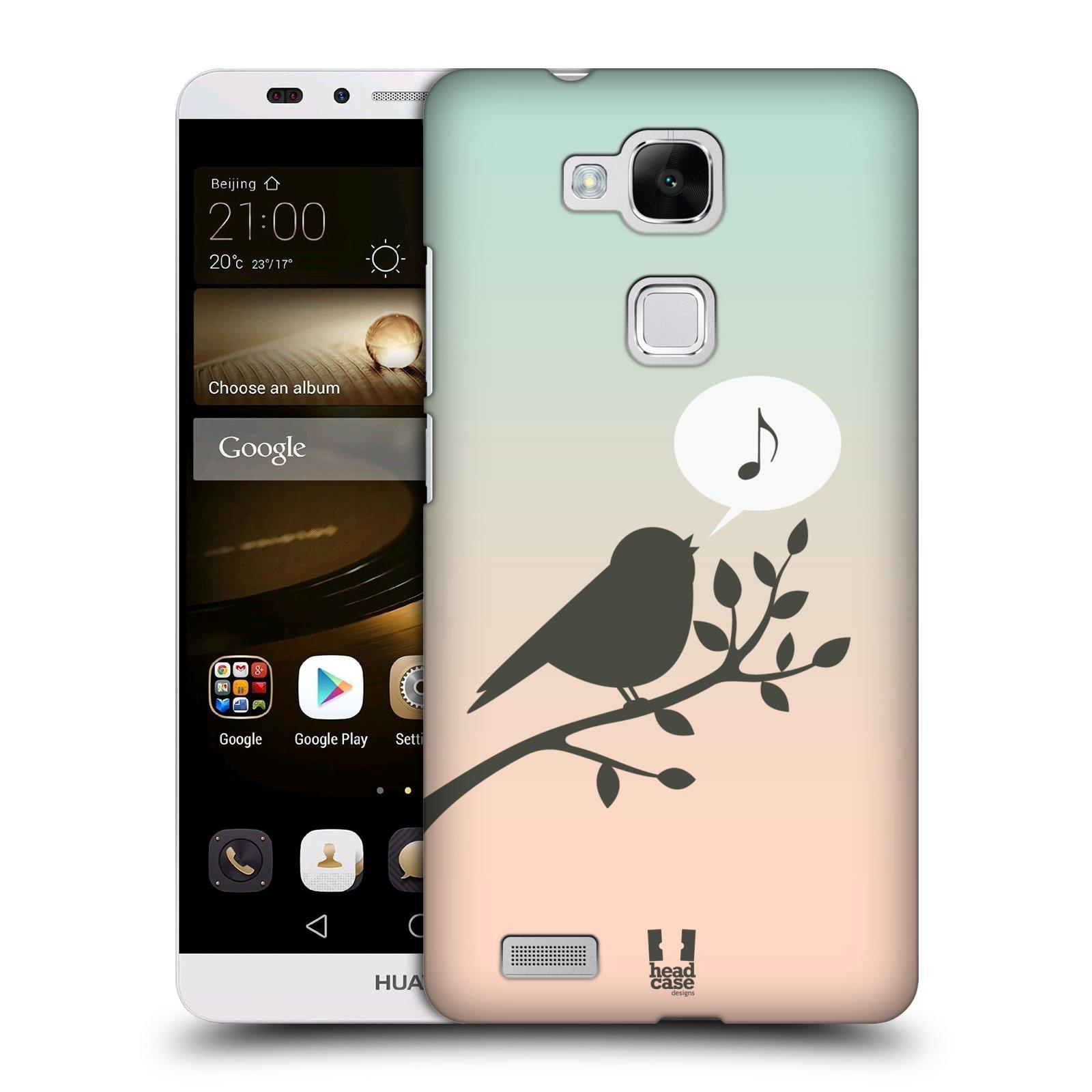 HEAD CASE plastový obal na mobil Huawei Mate 7 vzor Ptáček zpěváček noty píseň