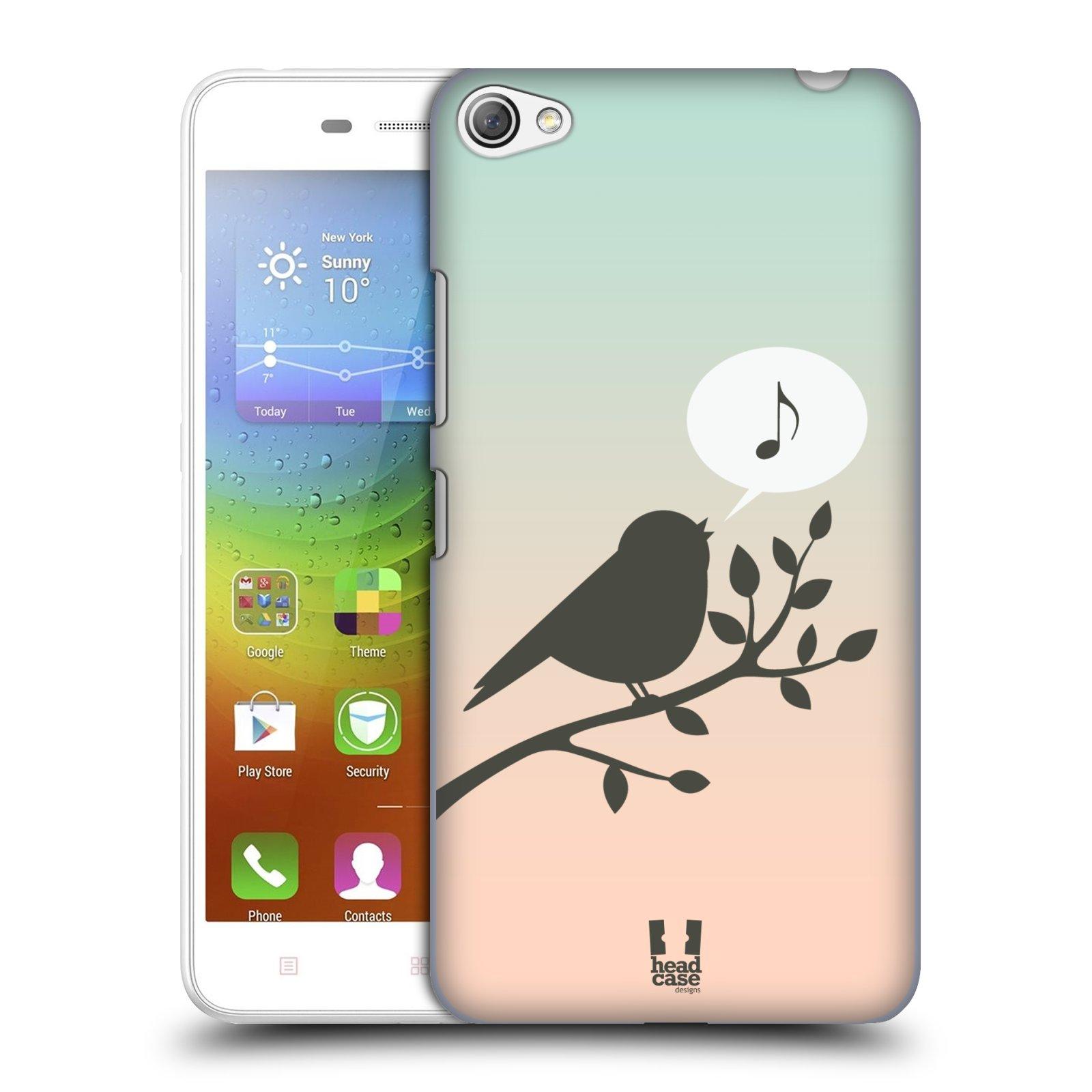 HEAD CASE pevný plastový obal na mobil LENOVO S60 / LENOVO S60 DUAL SIM vzor Ptáček zpěváček noty píseň