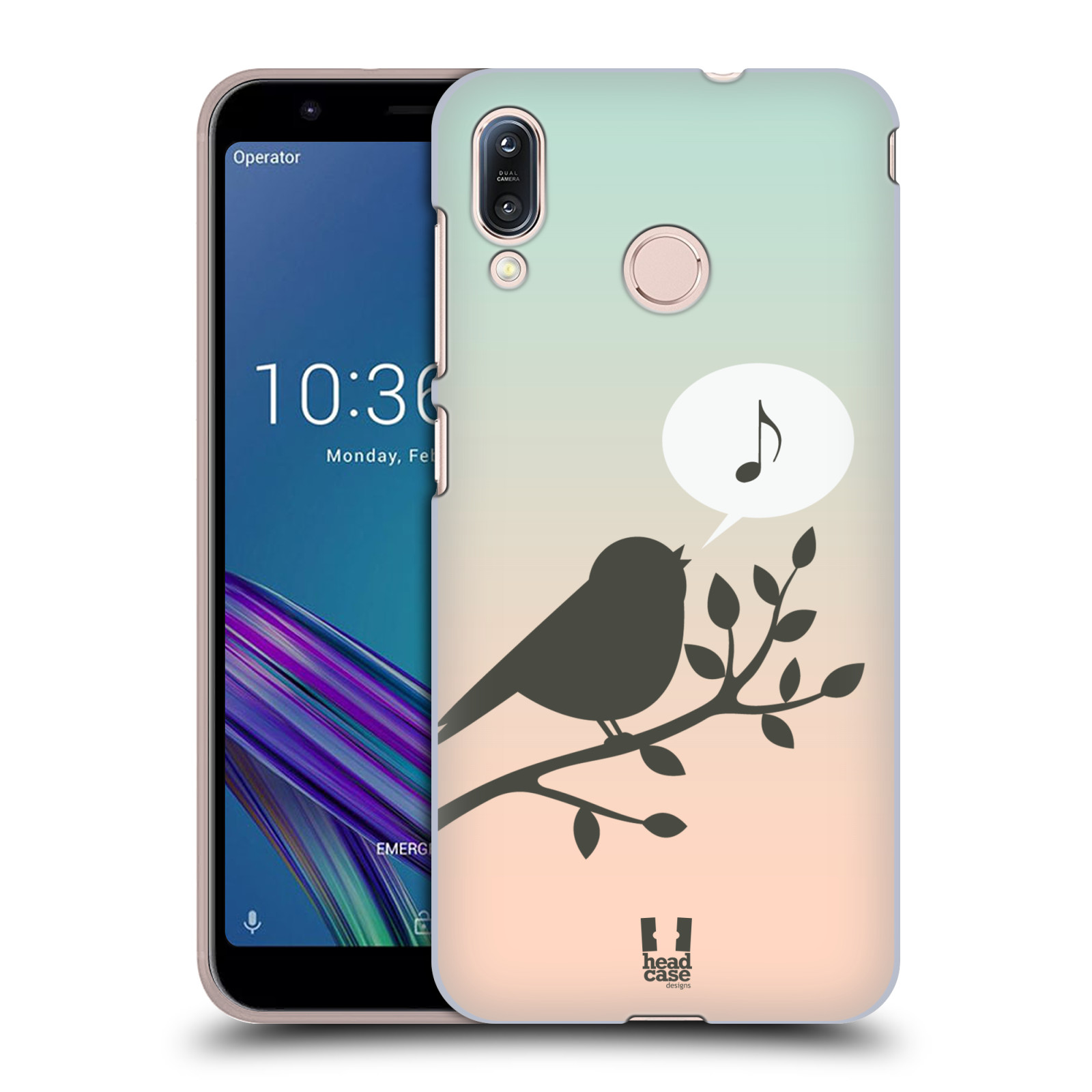 Pouzdro na mobil Asus Zenfone Max M1 (ZB555KL) - HEAD CASE - vzor Ptáček zpěváček noty píseň