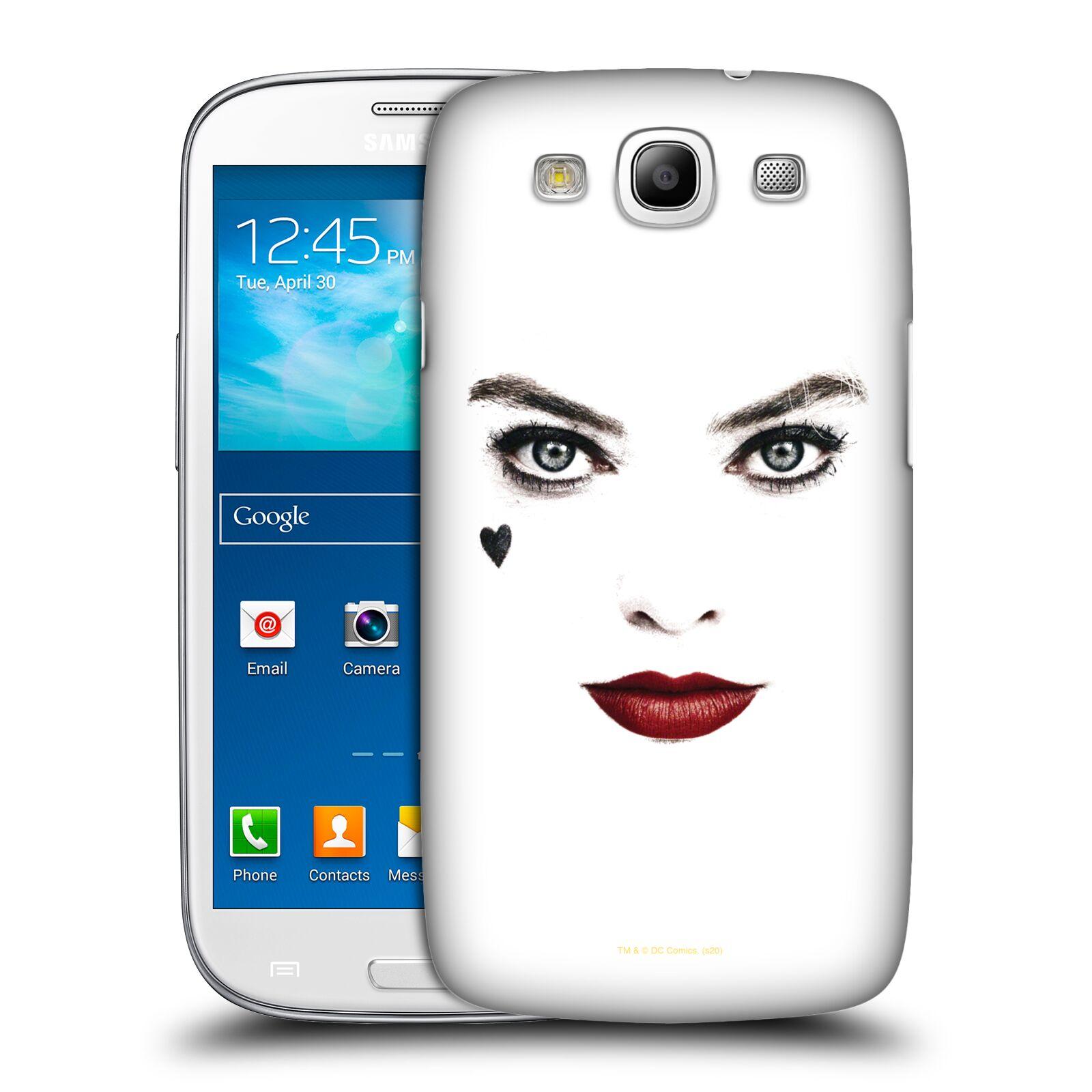 Pouzdro na mobil Samsung Galaxy S3 - HEAD CASE - DC komix Harely Quinn - tvář