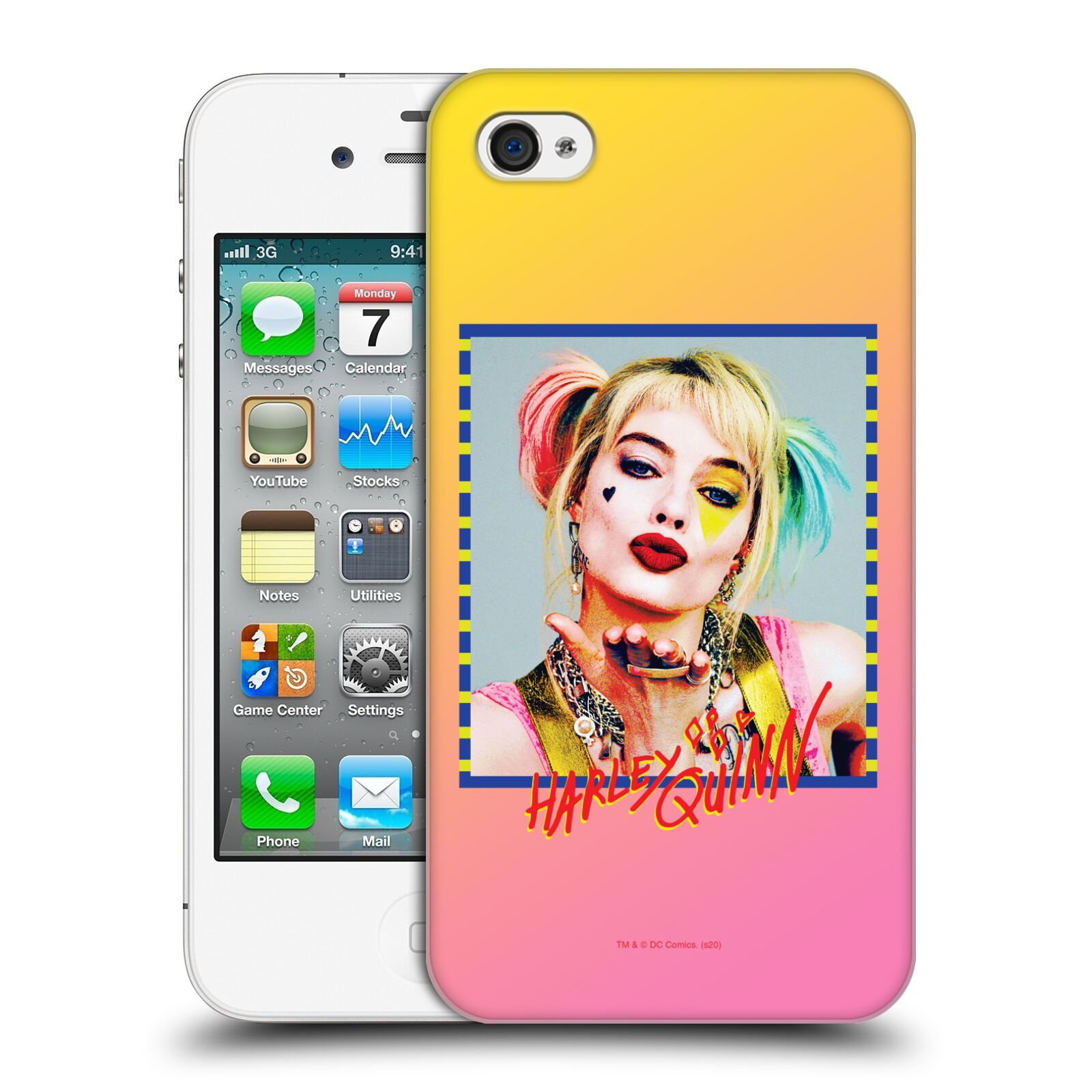 Pouzdro na mobil Apple Iphone 4/4S - HEAD CASE - DC komix Harely Quinn