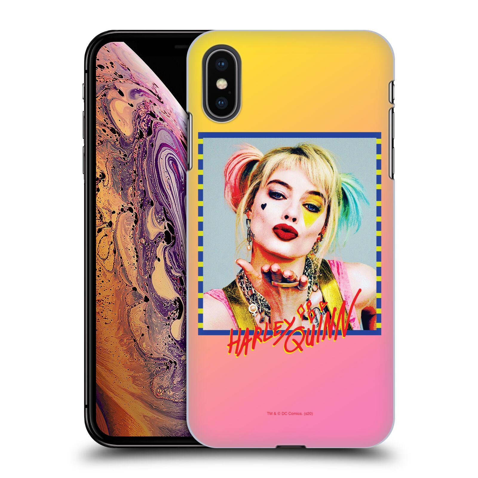 Pouzdro na mobil Apple Iphone XS MAX - HEAD CASE - DC komix Harely Quinn