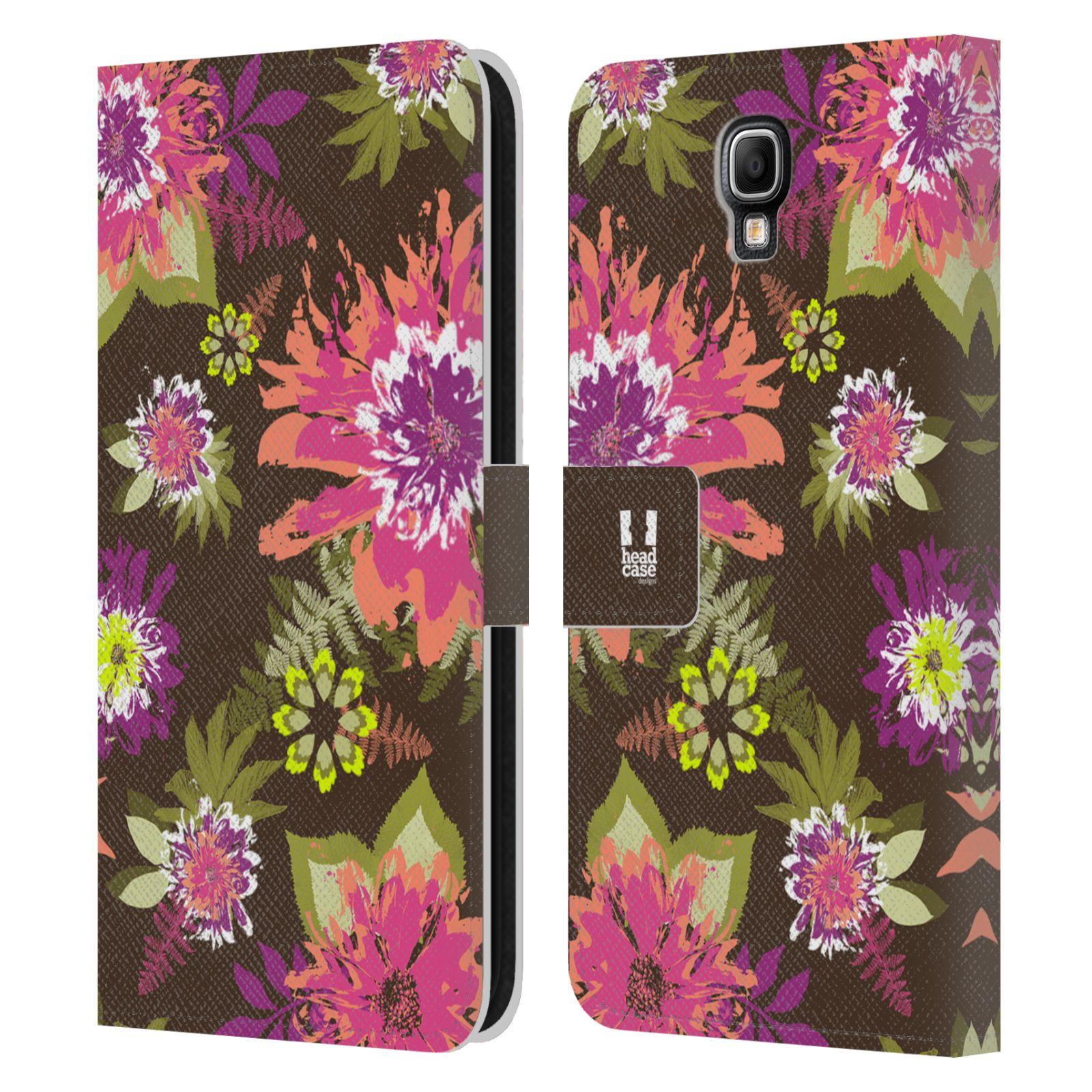 HEAD CASE Flipové pouzdro pro mobil Samsung Galaxy Note 3 NEO (N7505) BOTANIKA barevné květy zelená
