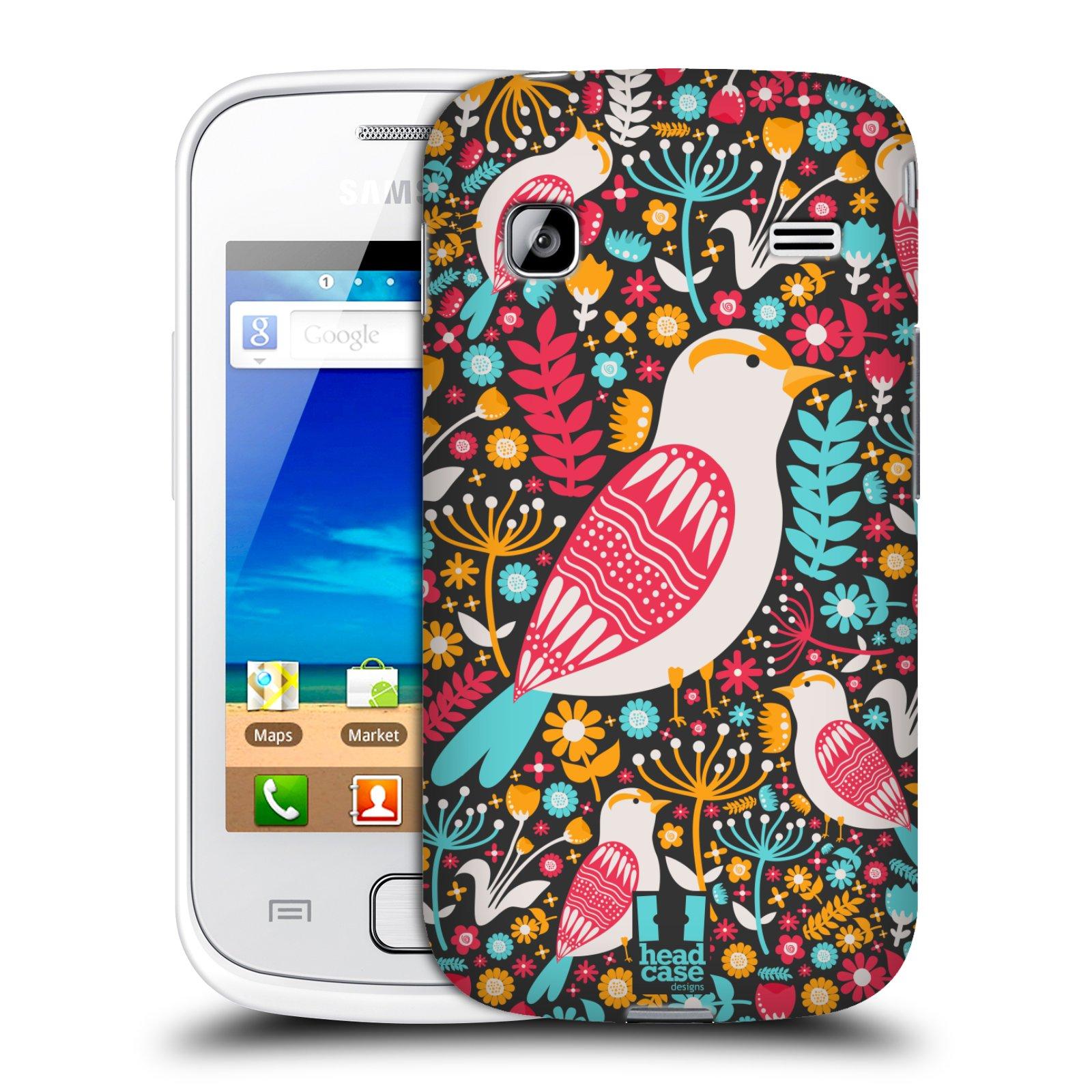 HEAD CASE plastový obal na mobil SAMSUNG GALAXY GIO (S5660) vzor kreslení ptáci dlask obecný