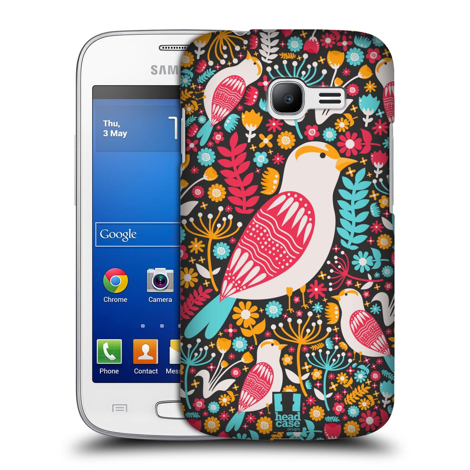 HEAD CASE plastový obal na mobil SAMSUNG GALAXY Star Pro S7260/S7262 DUOS vzor kreslení ptáci dlask obecný