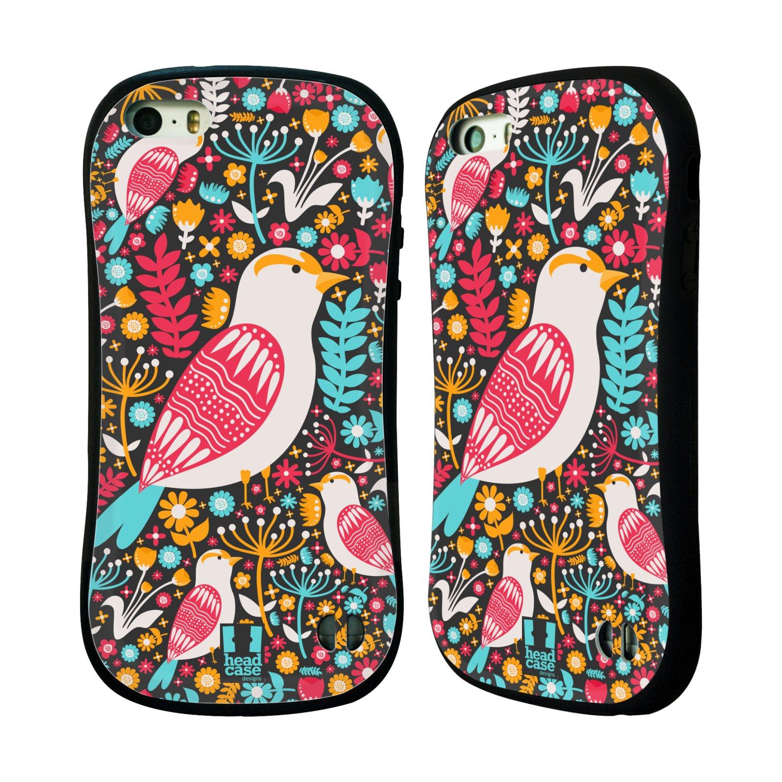 HEAD CASE silikon/plast odolný obal na mobil Apple Iphone 5/5S vzor kreslení ptáci dlask obecný