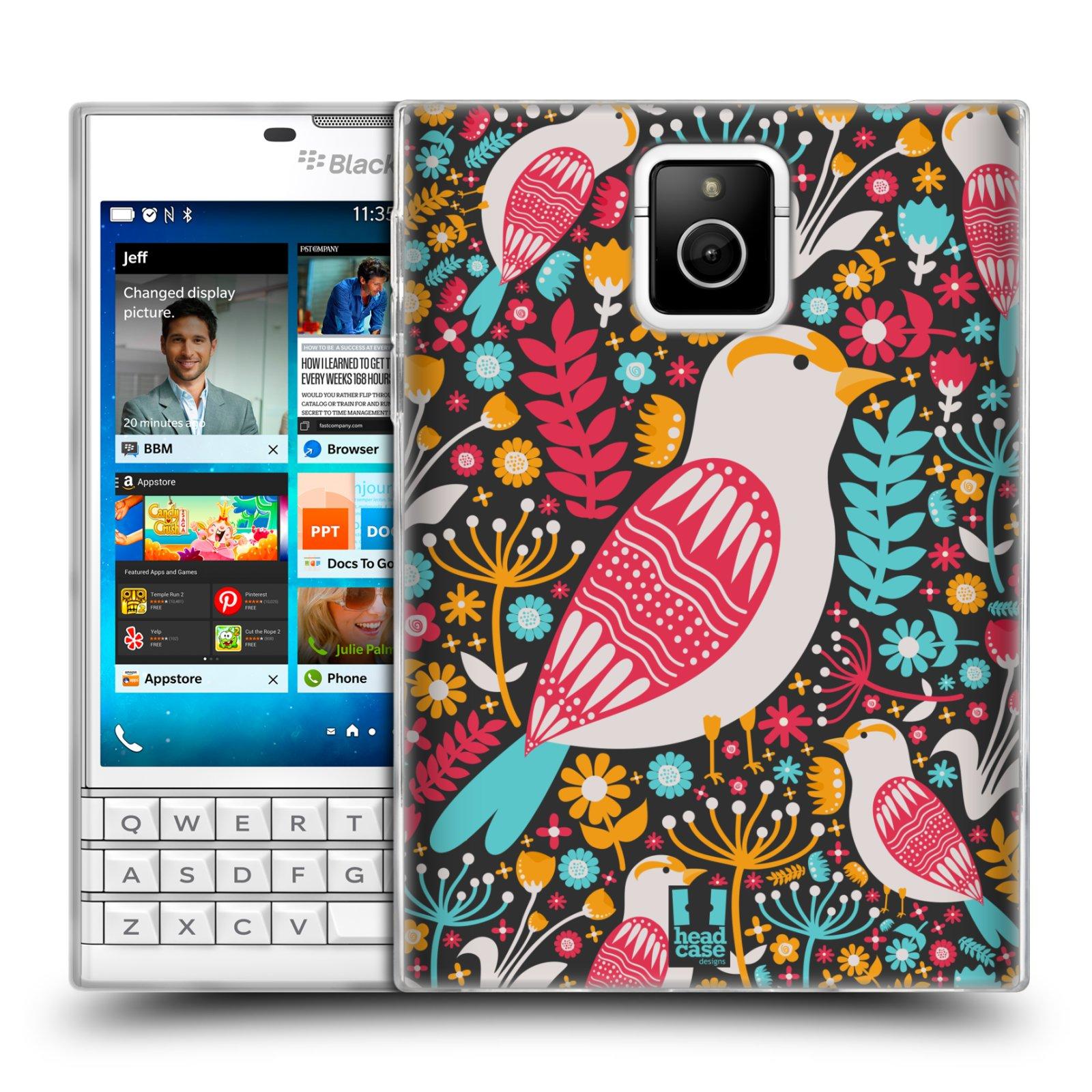 HEAD CASE silikonový obal na mobil Blackberry PASSPORT vzor kreslení ptáci dlask obecný