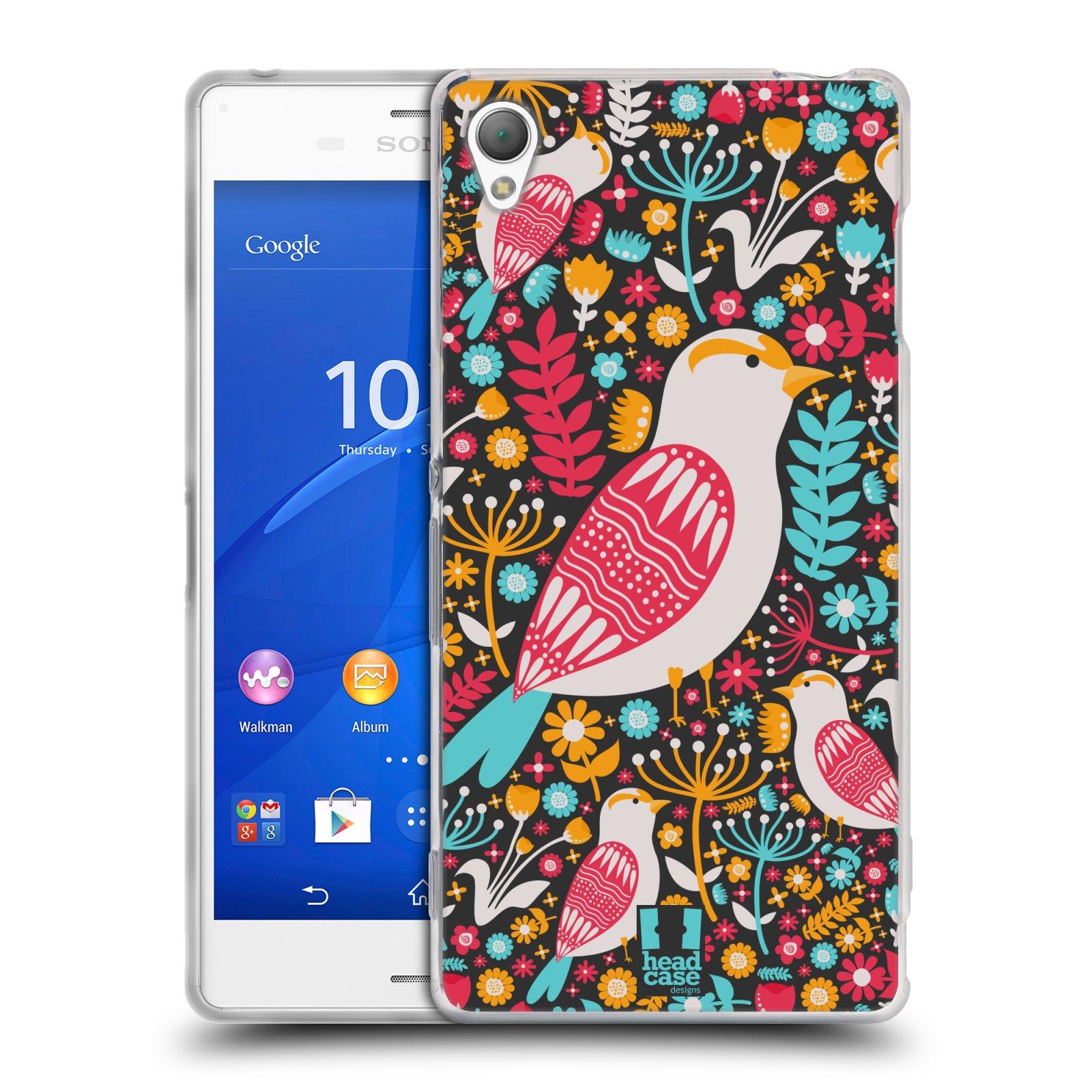 HEAD CASE silikonový obal na mobil Sony Xperia Z3 vzor kreslení ptáci dlask obecný