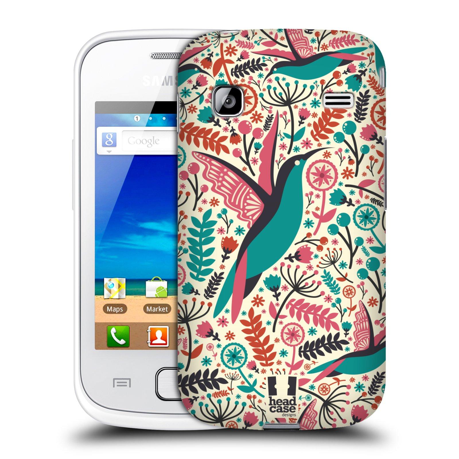 HEAD CASE plastový obal na mobil SAMSUNG GALAXY GIO (S5660) vzor kreslení ptáci kolibřík