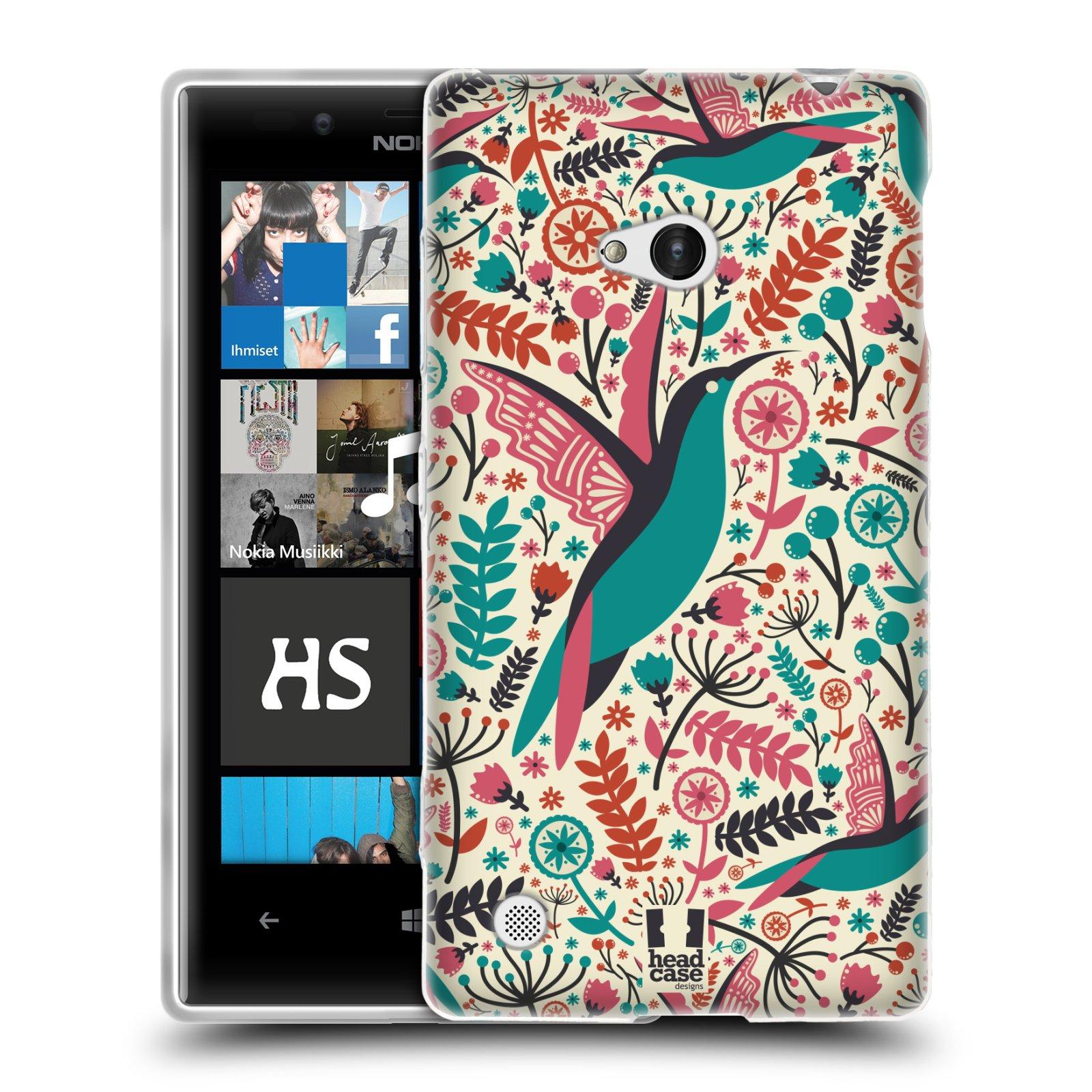HEAD CASE silikonový obal na mobil NOKIA Lumia 720 vzor kreslení ptáci kolibřík