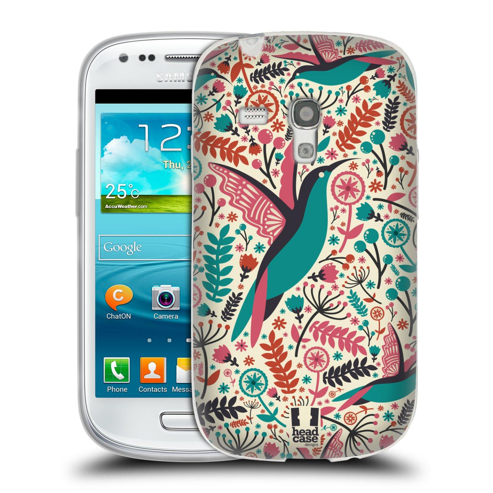 HEAD CASE silikonový obal na mobil Samsung Galaxy S3 MINI i8190 vzor kreslení ptáci kolibřík