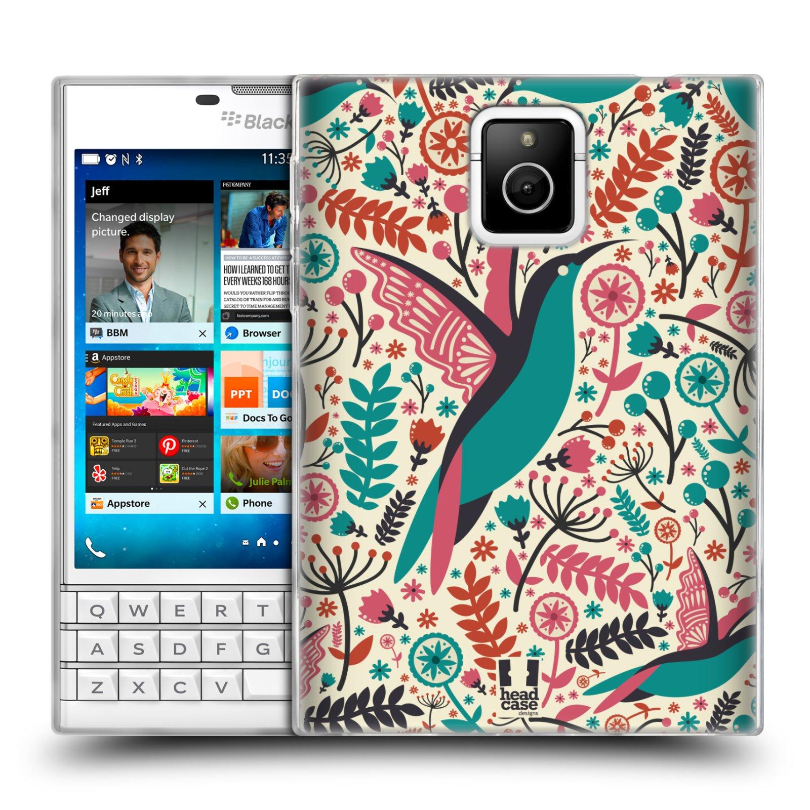 HEAD CASE silikonový obal na mobil Blackberry PASSPORT vzor kreslení ptáci kolibřík