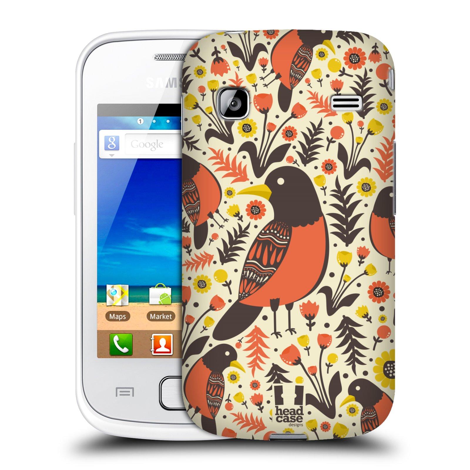 HEAD CASE plastový obal na mobil SAMSUNG GALAXY GIO (S5660) vzor kreslení ptáci červenka