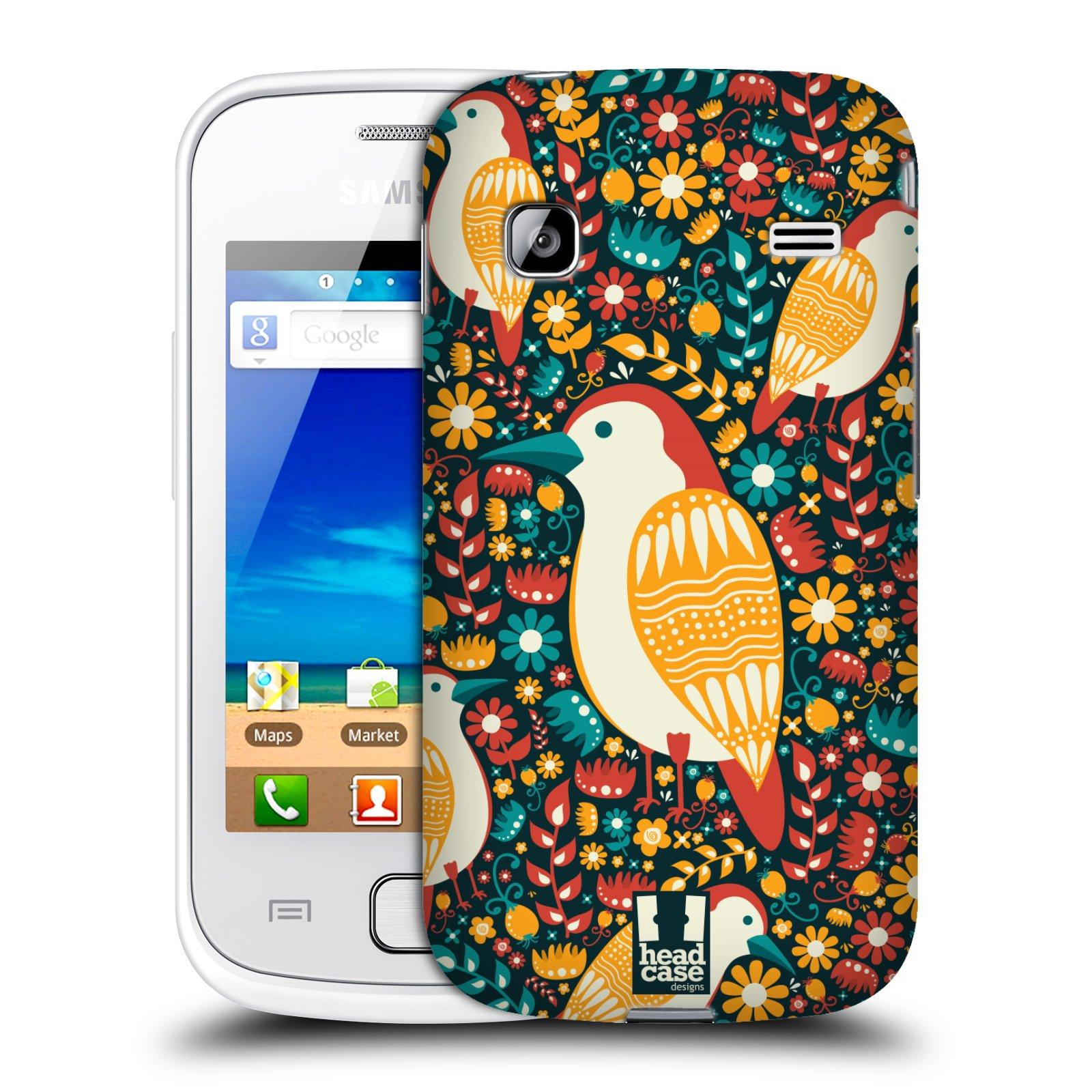 HEAD CASE plastový obal na mobil SAMSUNG GALAXY GIO (S5660) vzor kreslení ptáci datel