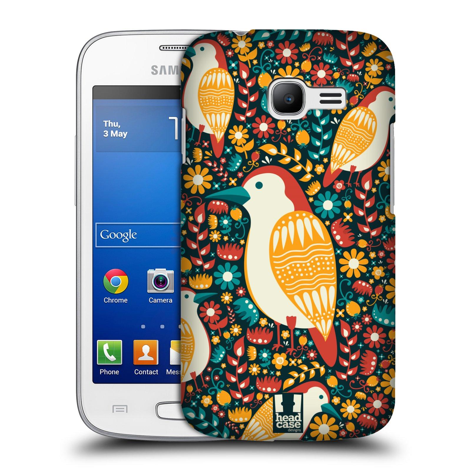 HEAD CASE plastový obal na mobil SAMSUNG GALAXY Star Pro S7260/S7262 DUOS vzor kreslení ptáci datel