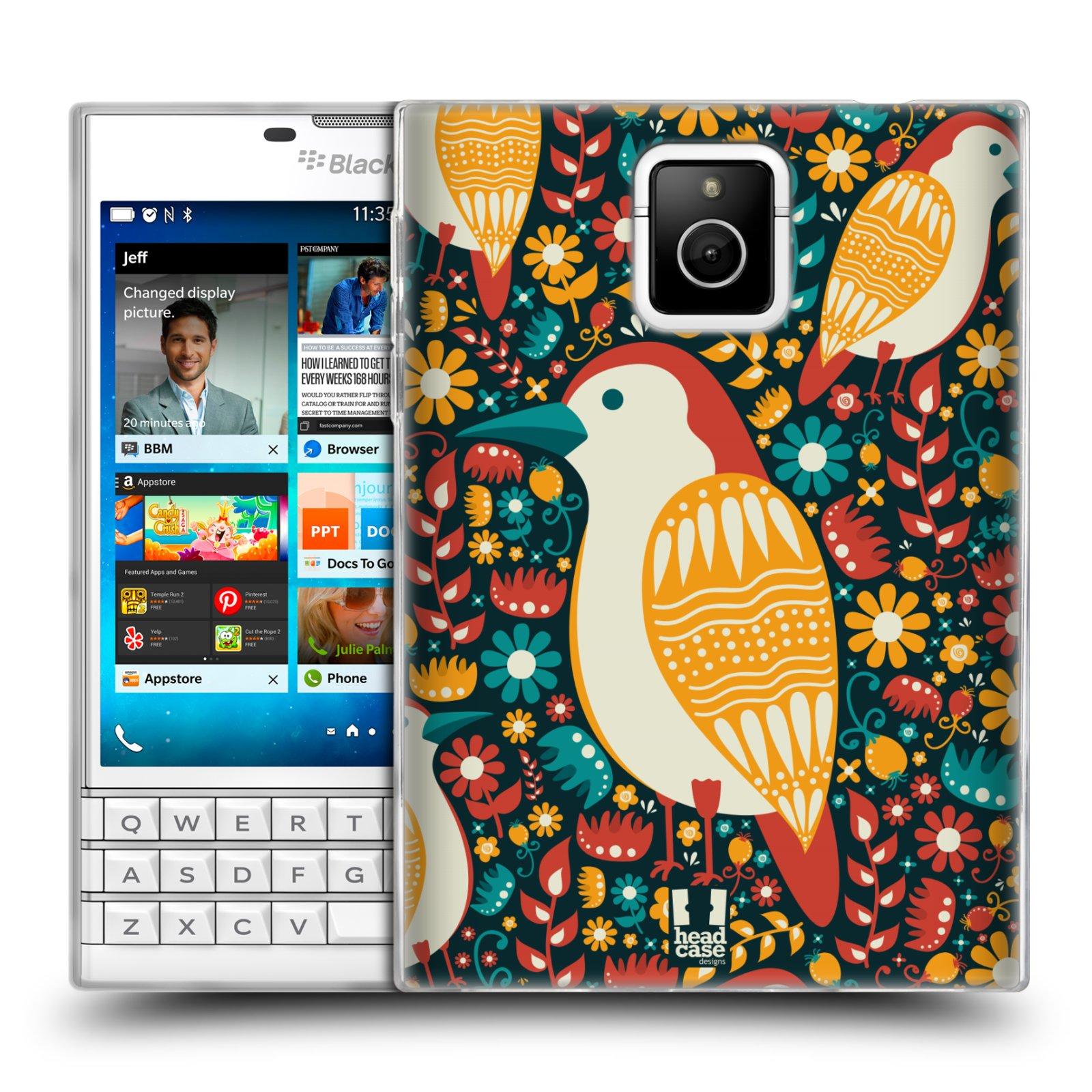 HEAD CASE silikonový obal na mobil Blackberry PASSPORT vzor kreslení ptáci datel