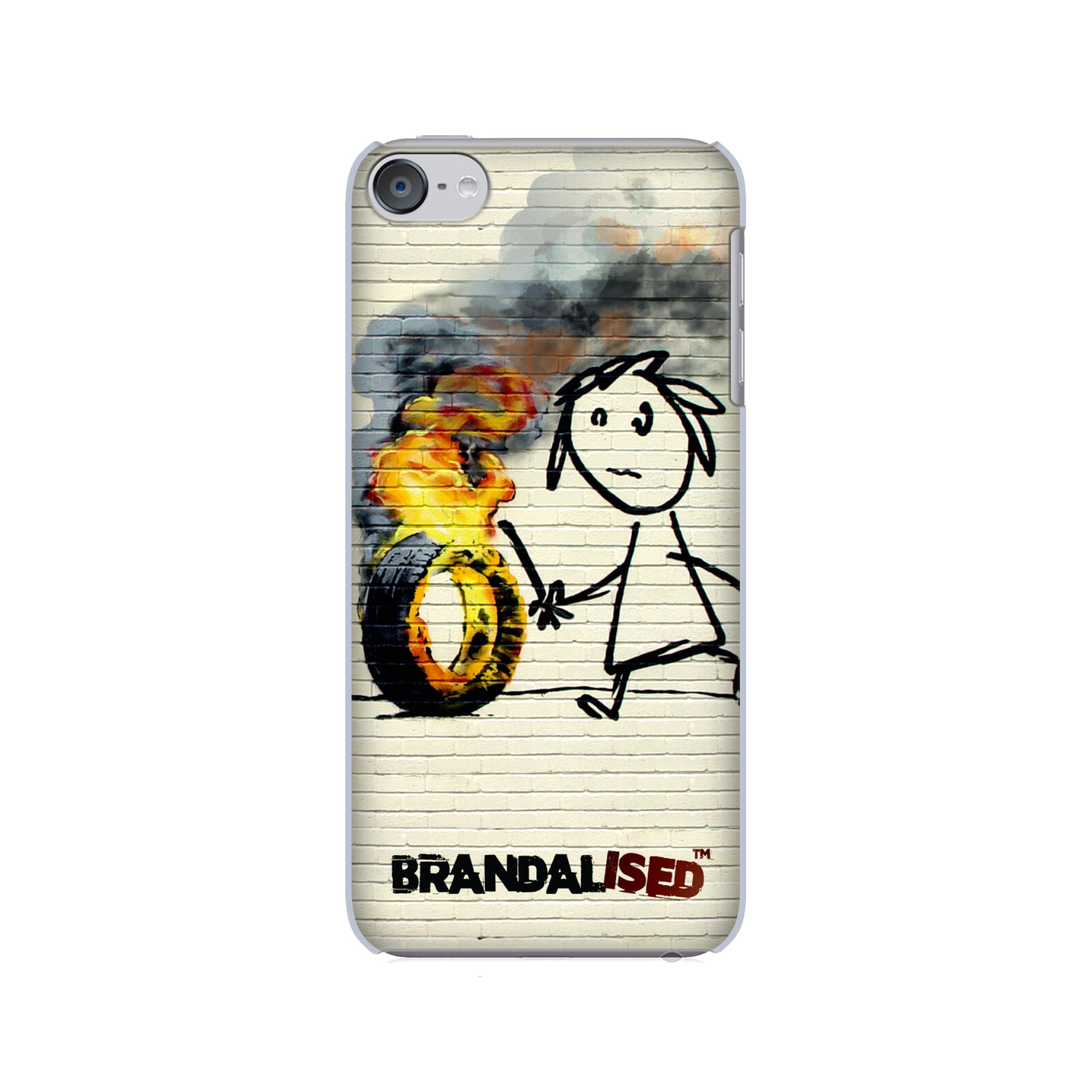 OFFICIAL BRANDALISED STREET ART HARD BACK CASE FOR APPLE iPOD TOUCH MP3