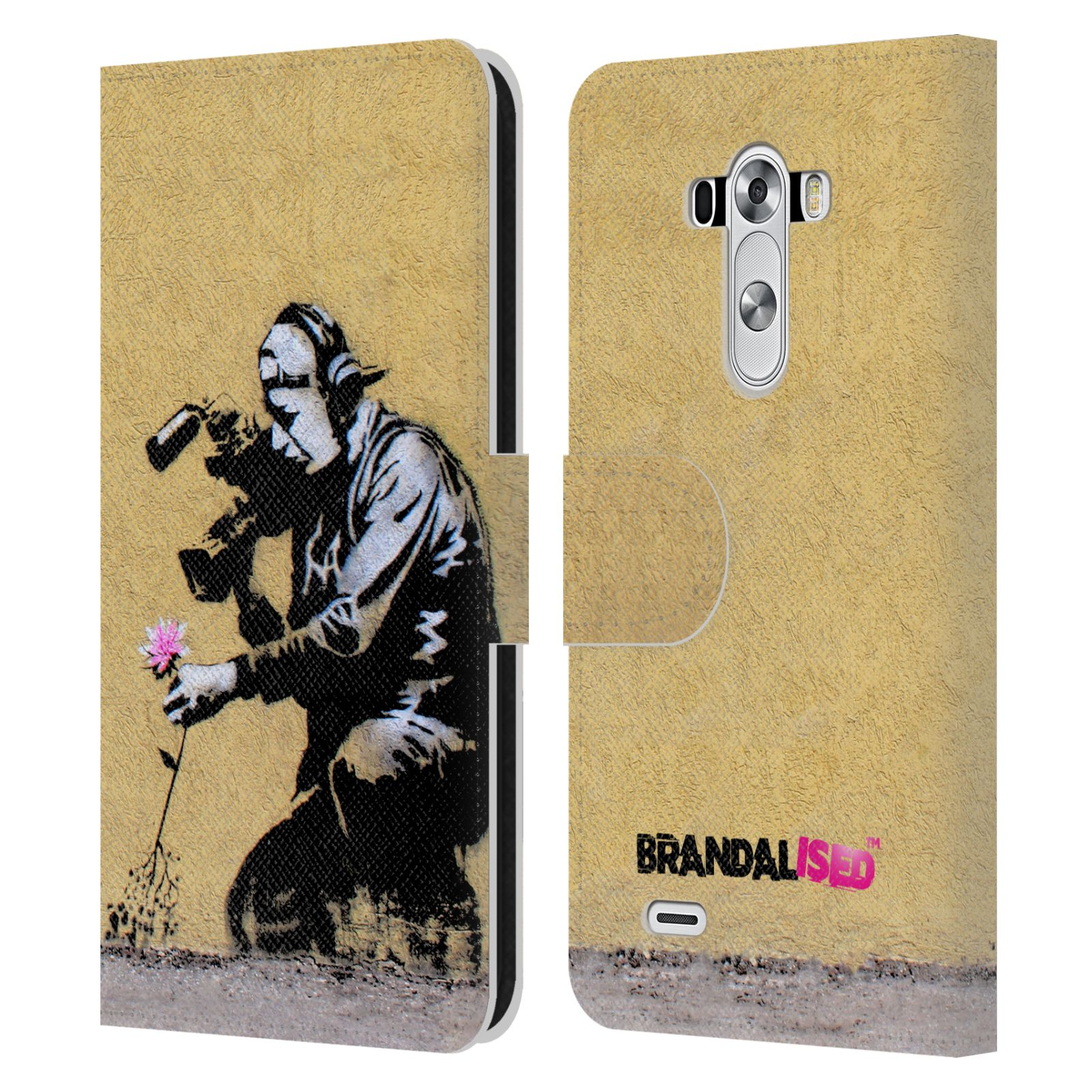 Book Cover Wall Art : Official brandalised wall art leather book wallet case