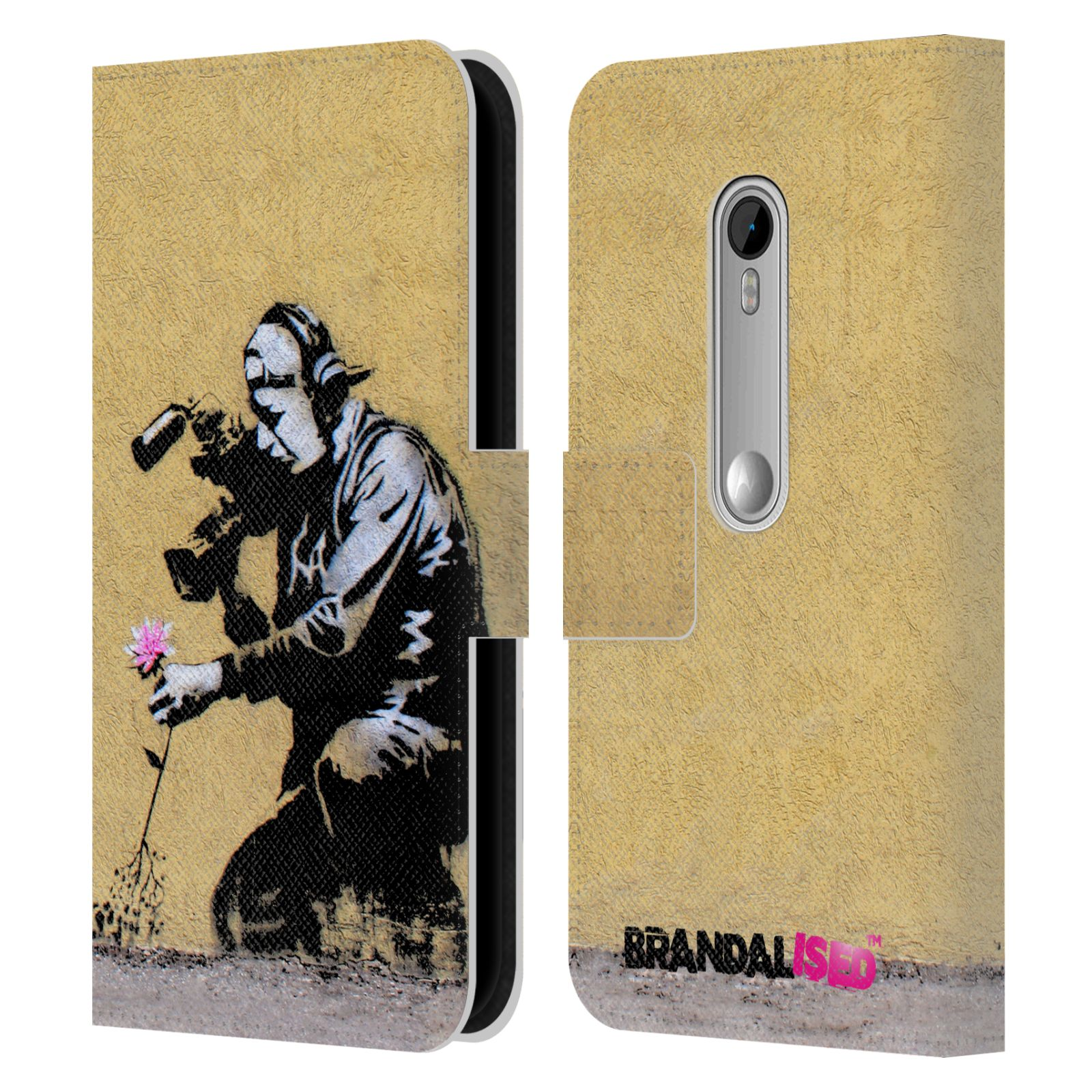 Book Cover Wall Art ~ Official brandalised wall art leather book wallet case