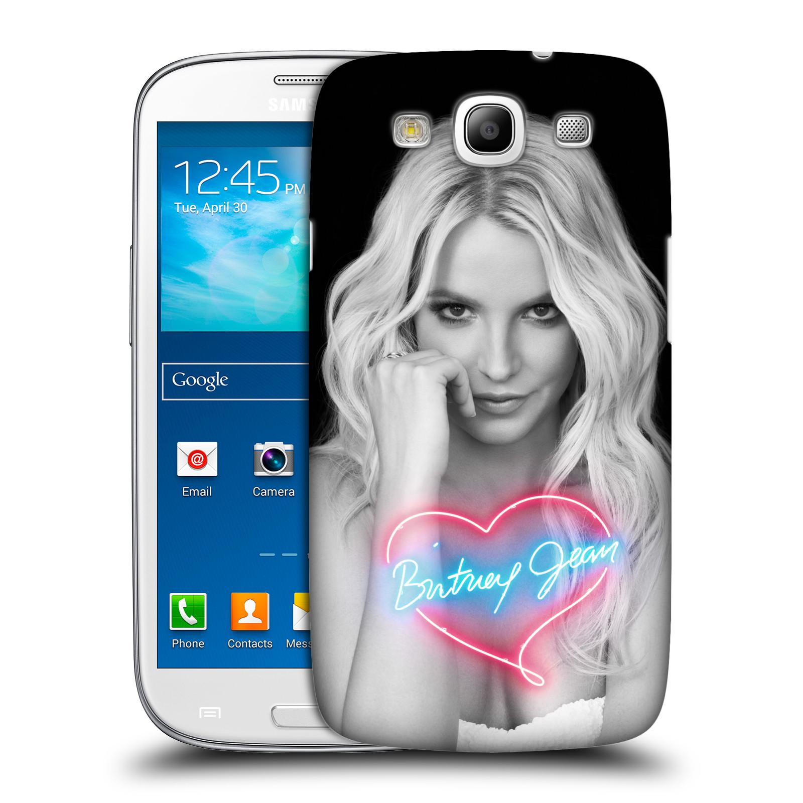 Pouzdro na mobil Samsung Galaxy S3 - HEAD CASE - Britney Spears - Neonové srdíčko