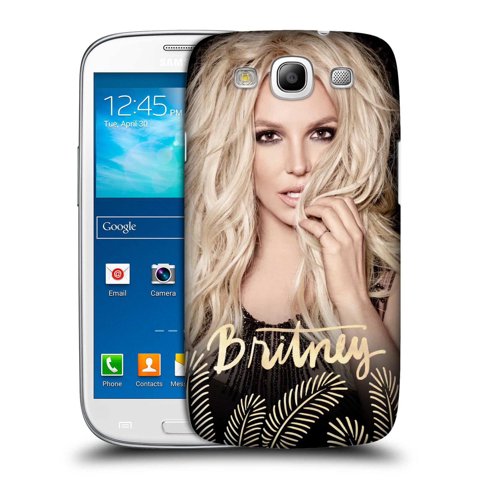 Pouzdro na mobil Samsung Galaxy S3 - HEAD CASE - Britney Spears - Zlatá a Černá
