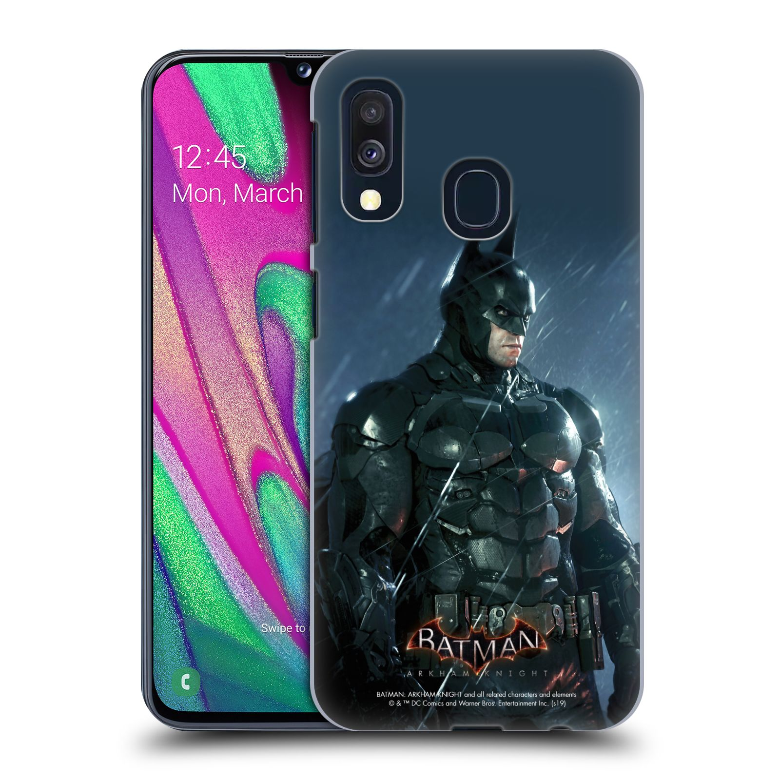 Pouzdro na mobil Samsung Galaxy A40 - HEAD CASE - Batman v dešti