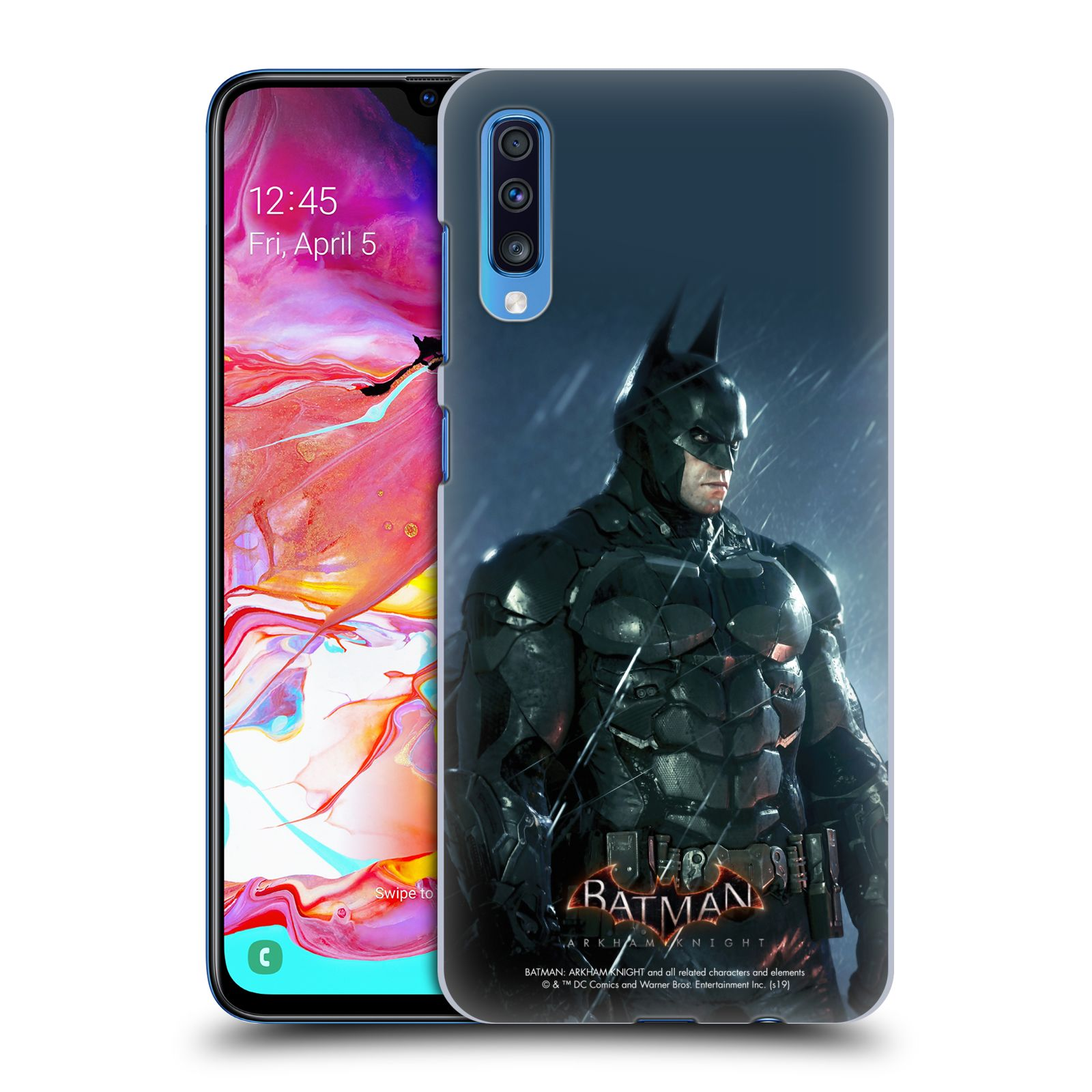 Pouzdro na mobil Samsung Galaxy A70 - HEAD CASE - Batman v dešti