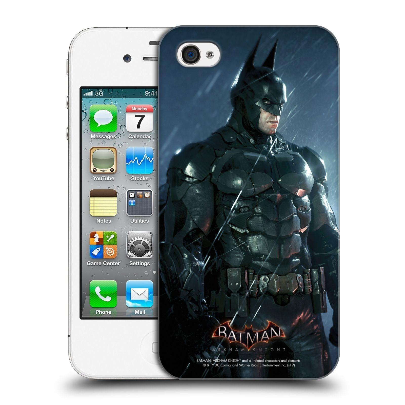 Pouzdro na mobil Apple Iphone 4/4S - HEAD CASE - Batman v dešti
