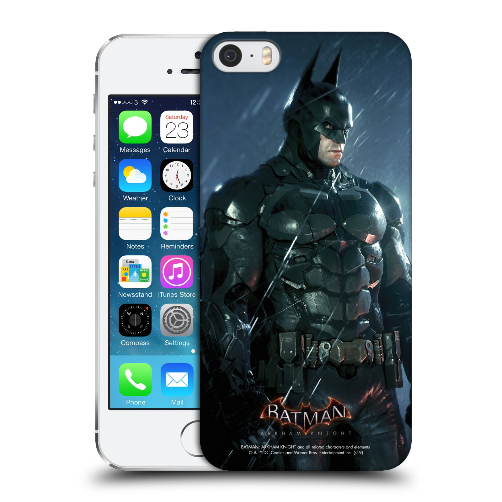 Pouzdro na mobil Apple Iphone 5/5S - HEAD CASE - Batman v dešti
