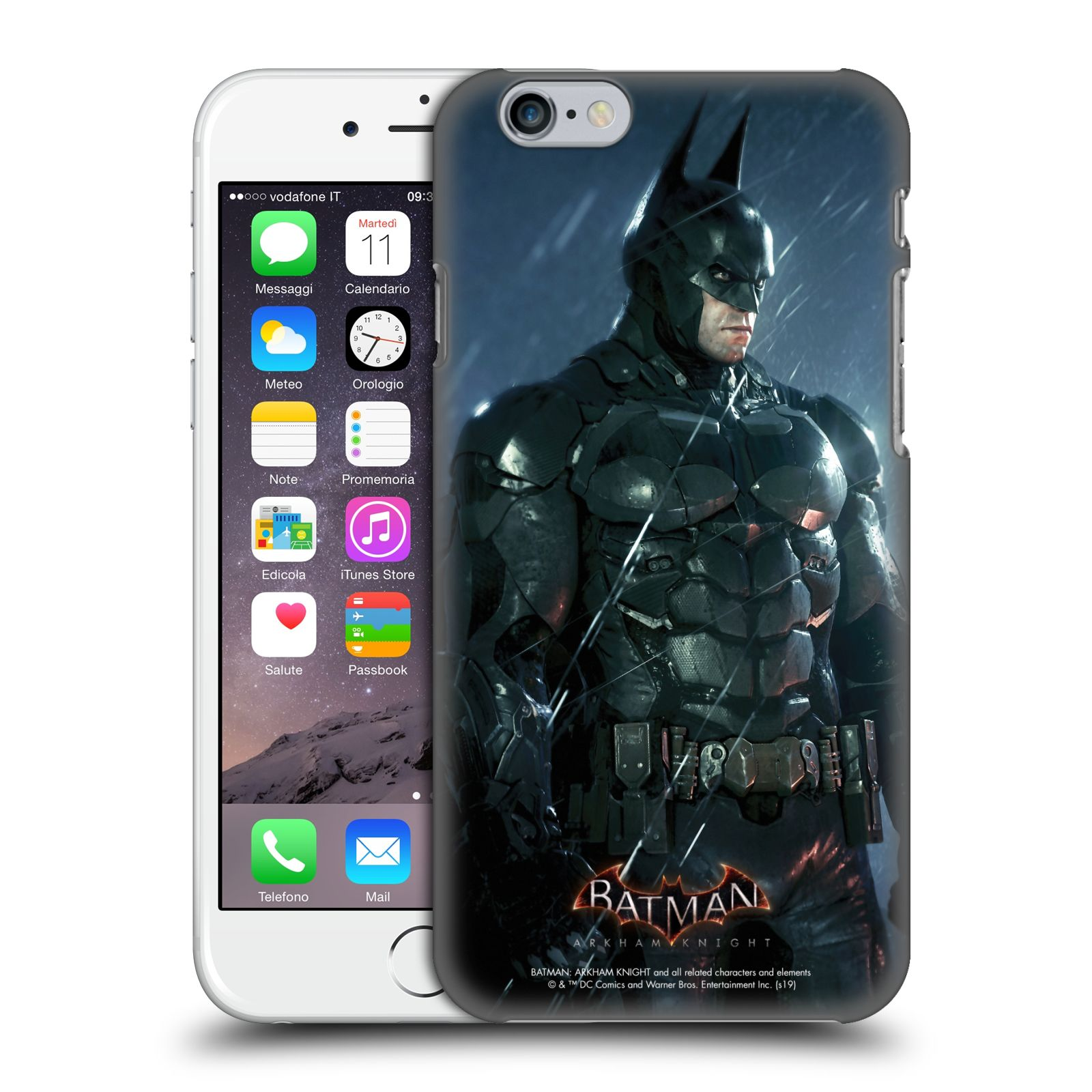Pouzdro na mobil Apple Iphone 6/6S - HEAD CASE - Batman v dešti