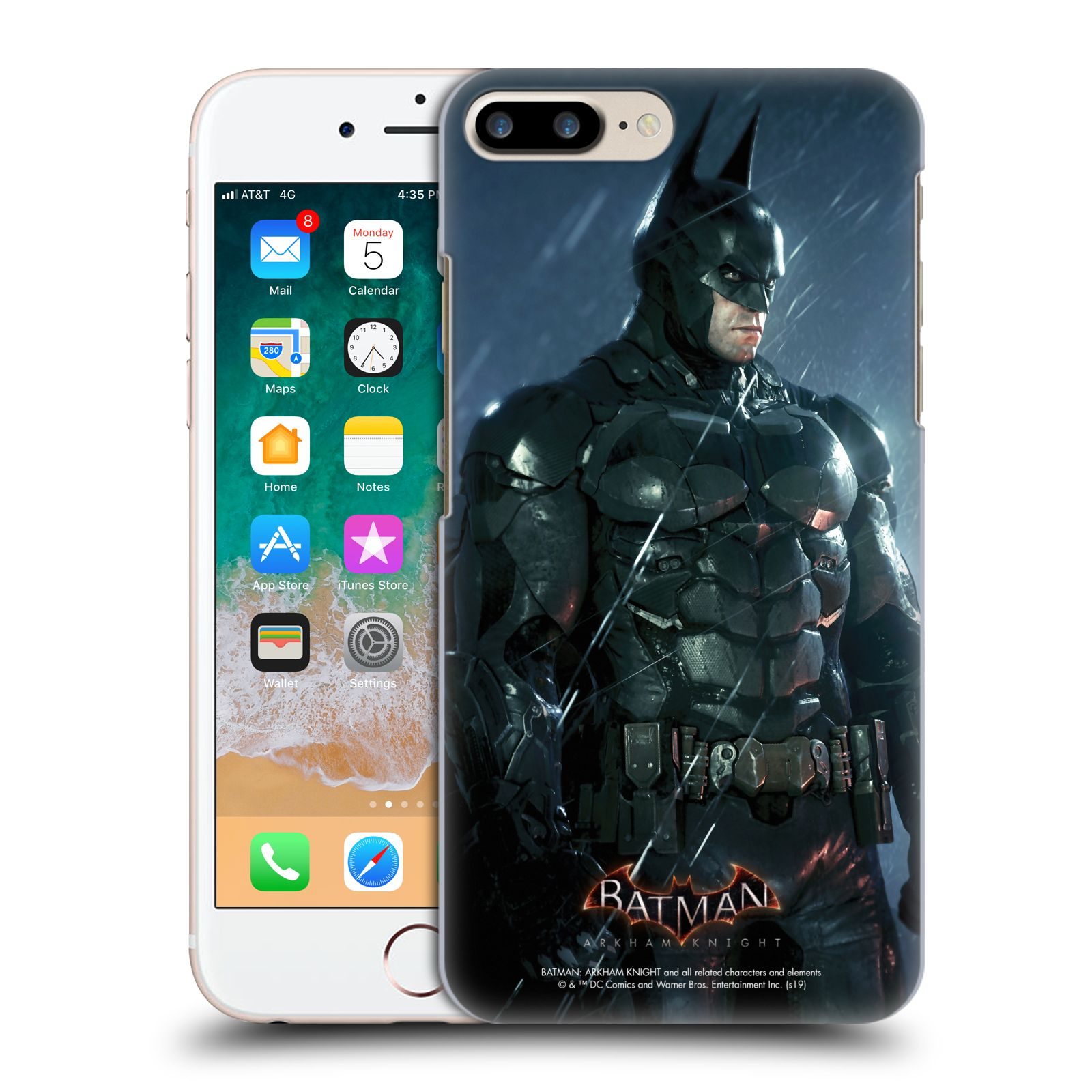 Pouzdro na mobil Apple Iphone 7/8 PLUS - HEAD CASE - Batman v dešti