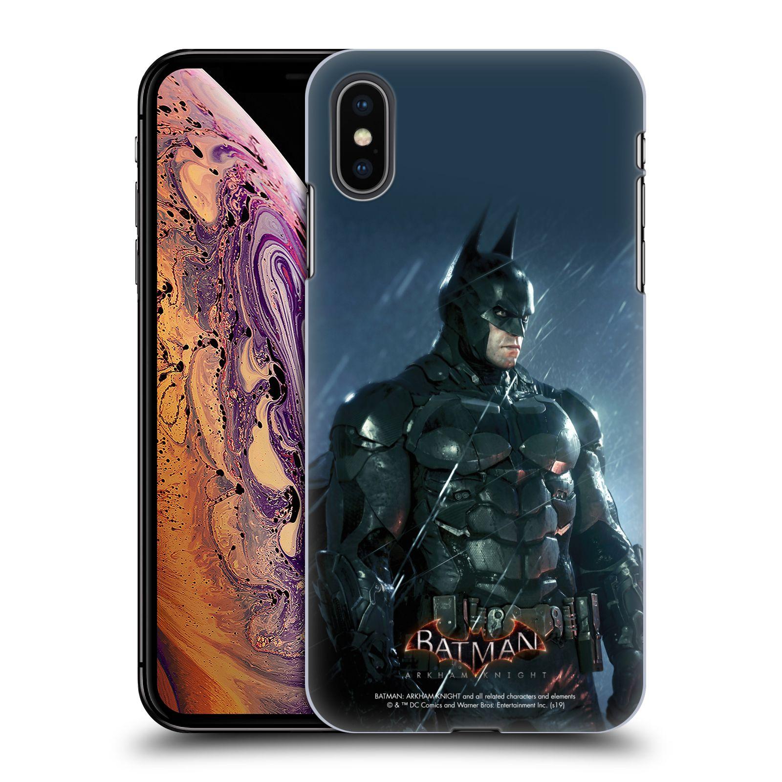 Pouzdro na mobil Apple Iphone XS MAX - HEAD CASE - Batman v dešti