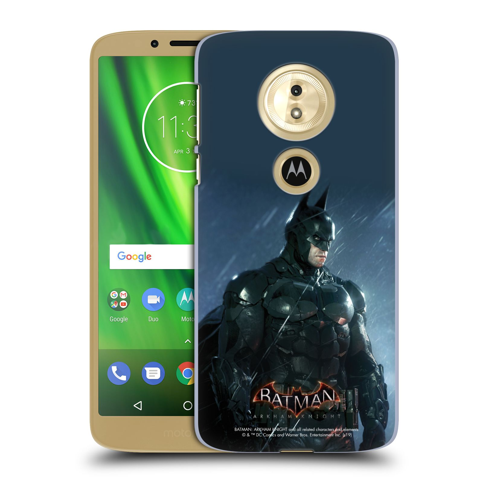 Pouzdro na mobil Motorola Moto E5 - HEAD CASE - Batman v dešti