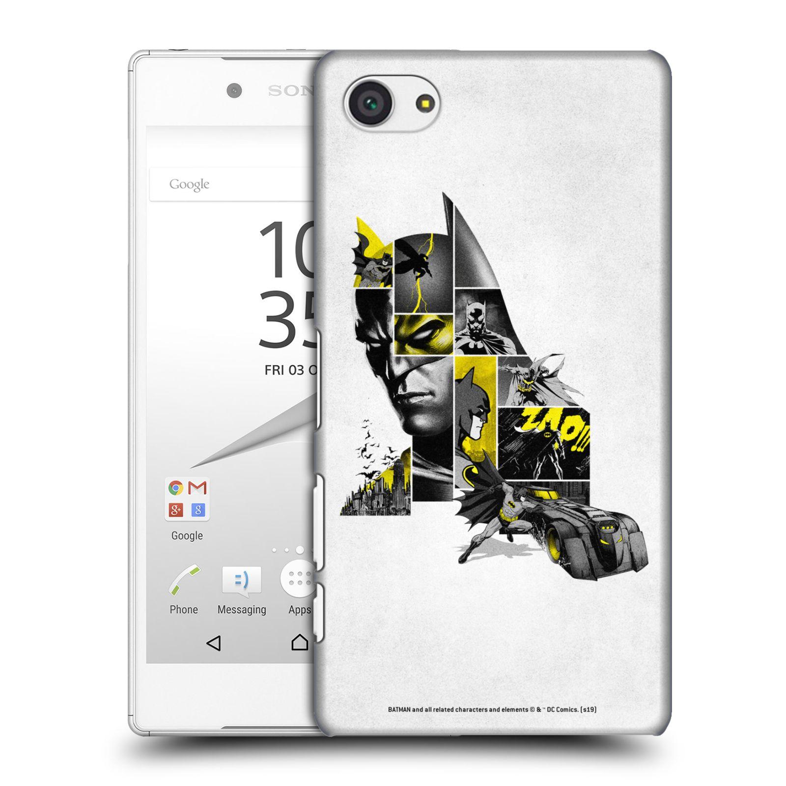 Pouzdro na mobil Sony Xperia Z5 COMPACT - HEAD CASE - DC komix Batman koláž
