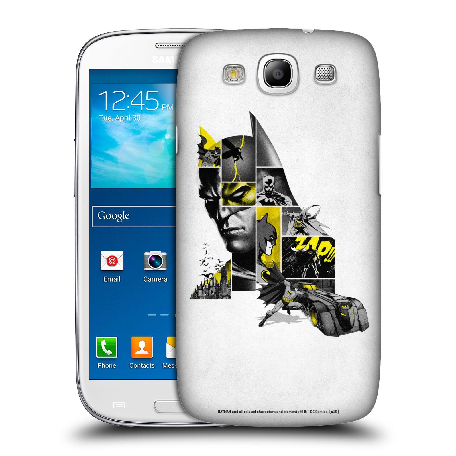 Pouzdro na mobil Samsung Galaxy S3 - HEAD CASE - DC komix Batman koláž