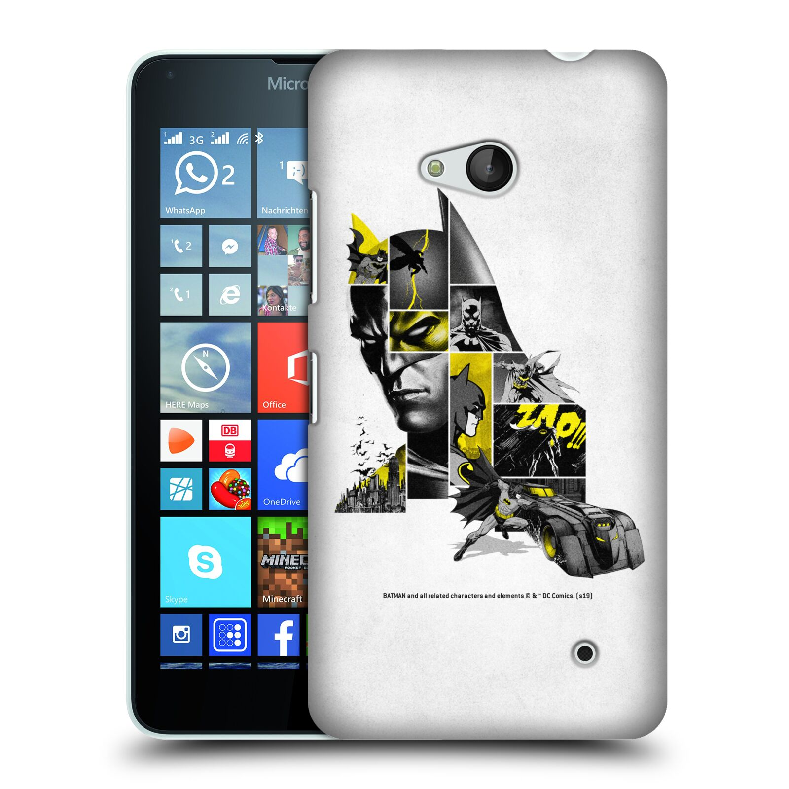 Pouzdro na mobil Microsoft Lumia 640 / 640 DUAL SIM - HEAD CASE - DC komix Batman koláž