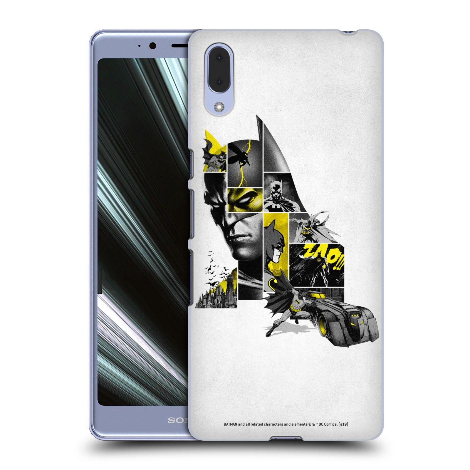 Pouzdro na mobil Sony Xperia L3 - HEAD CASE - DC komix Batman koláž