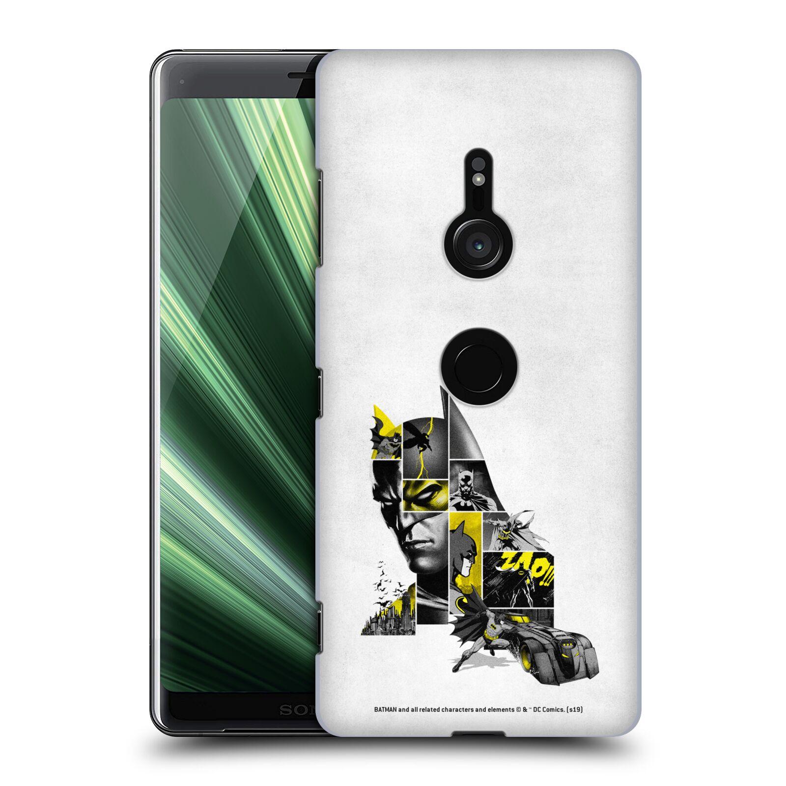 Pouzdro na mobil Sony Xperia XZ3 - HEAD CASE - DC komix Batman koláž