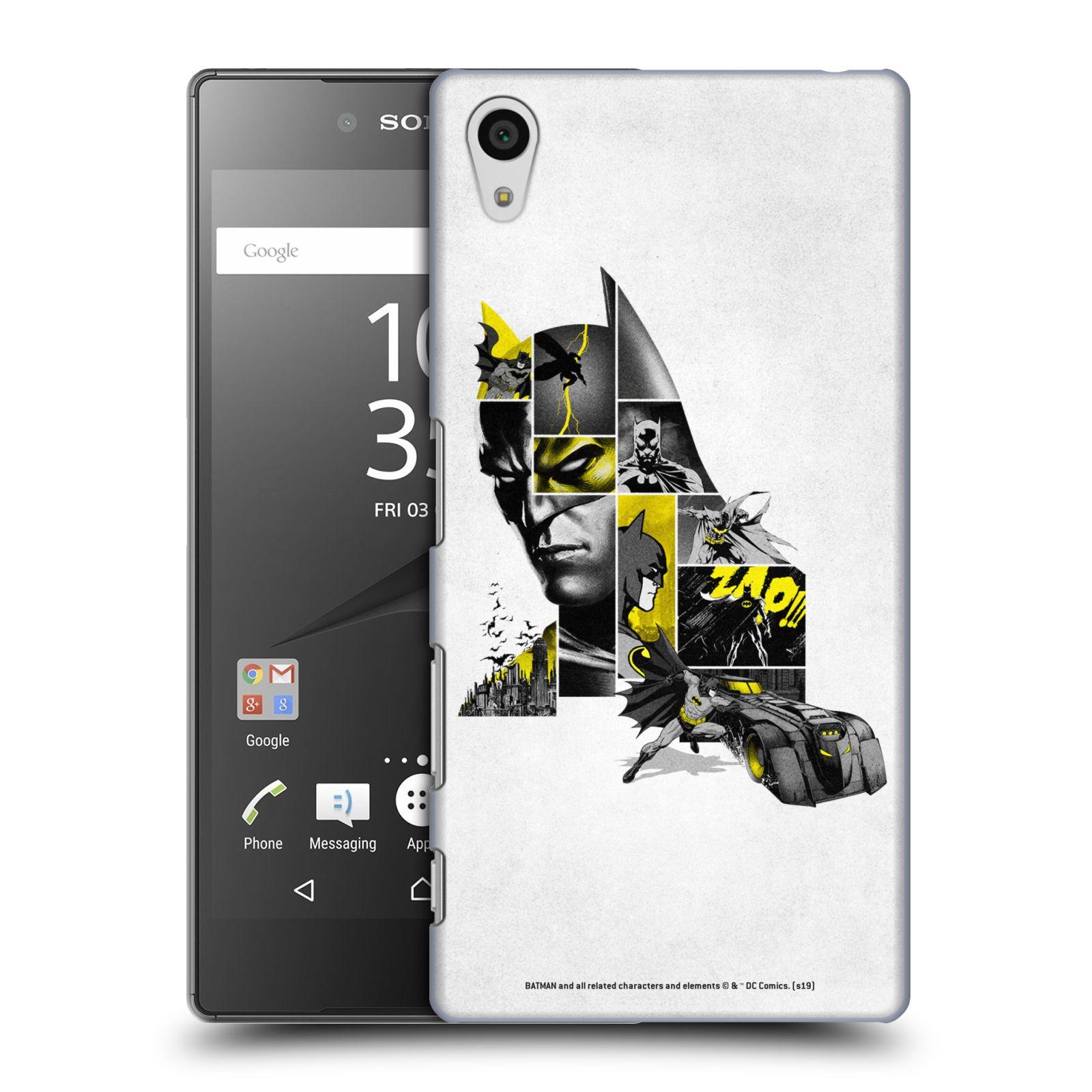 Pouzdro na mobil Sony Xperia Z5 - HEAD CASE - DC komix Batman koláž