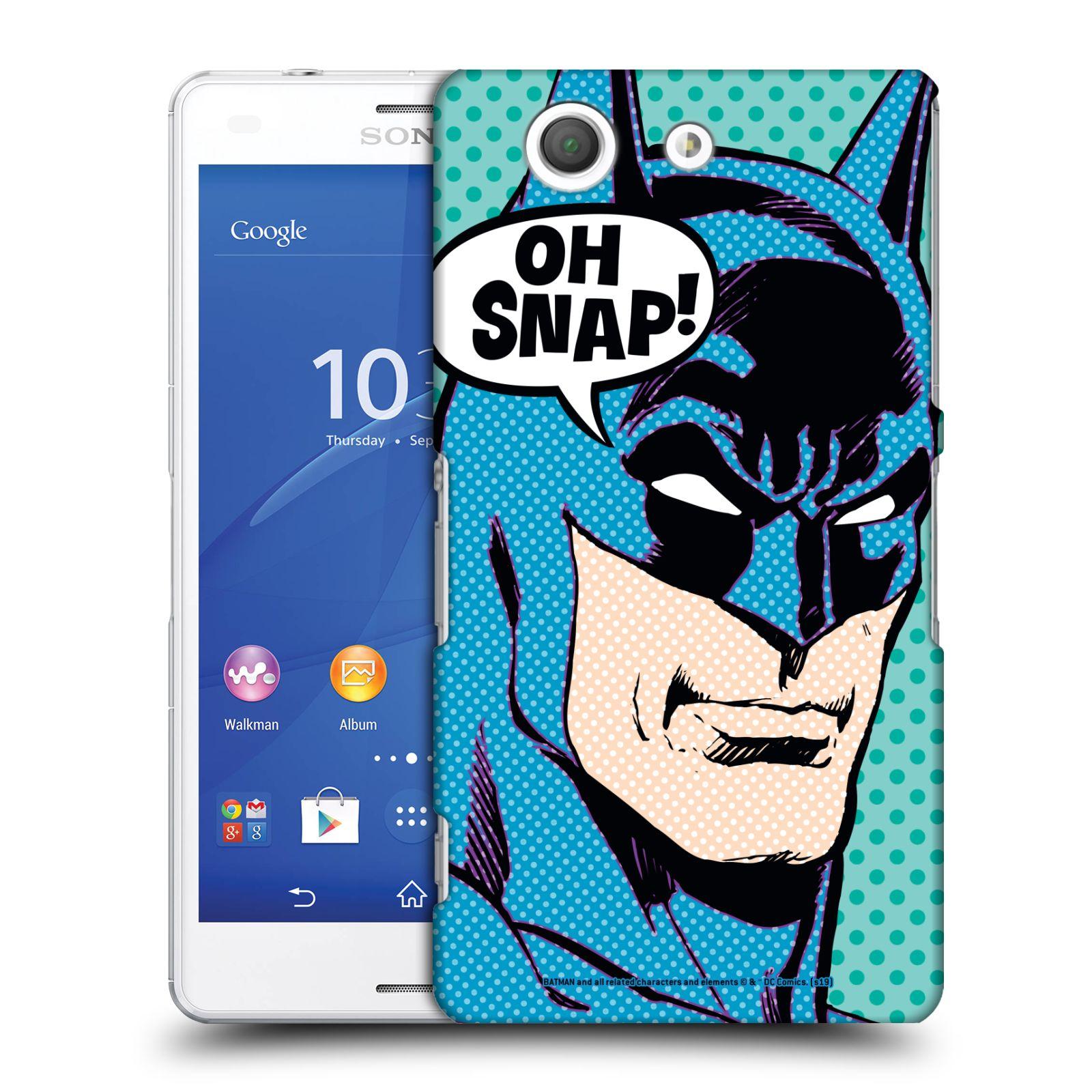 Pouzdro na mobil Sony Xperia Z3 COMPACT - HEAD CASE - DC komix Batman Pop Art tvář