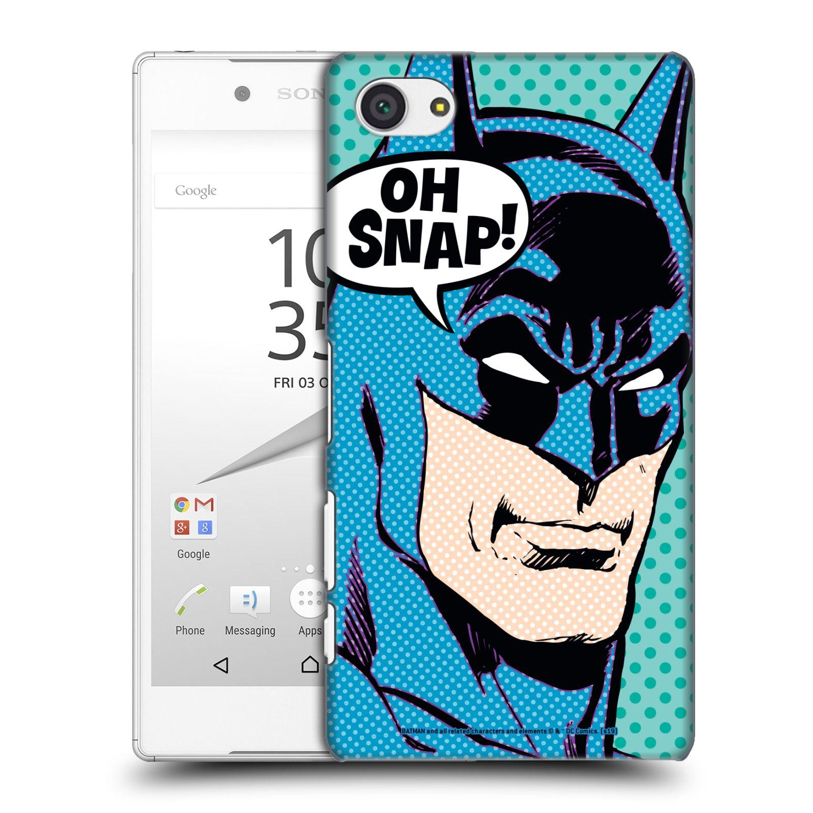 Pouzdro na mobil Sony Xperia Z5 COMPACT - HEAD CASE - DC komix Batman Pop Art tvář