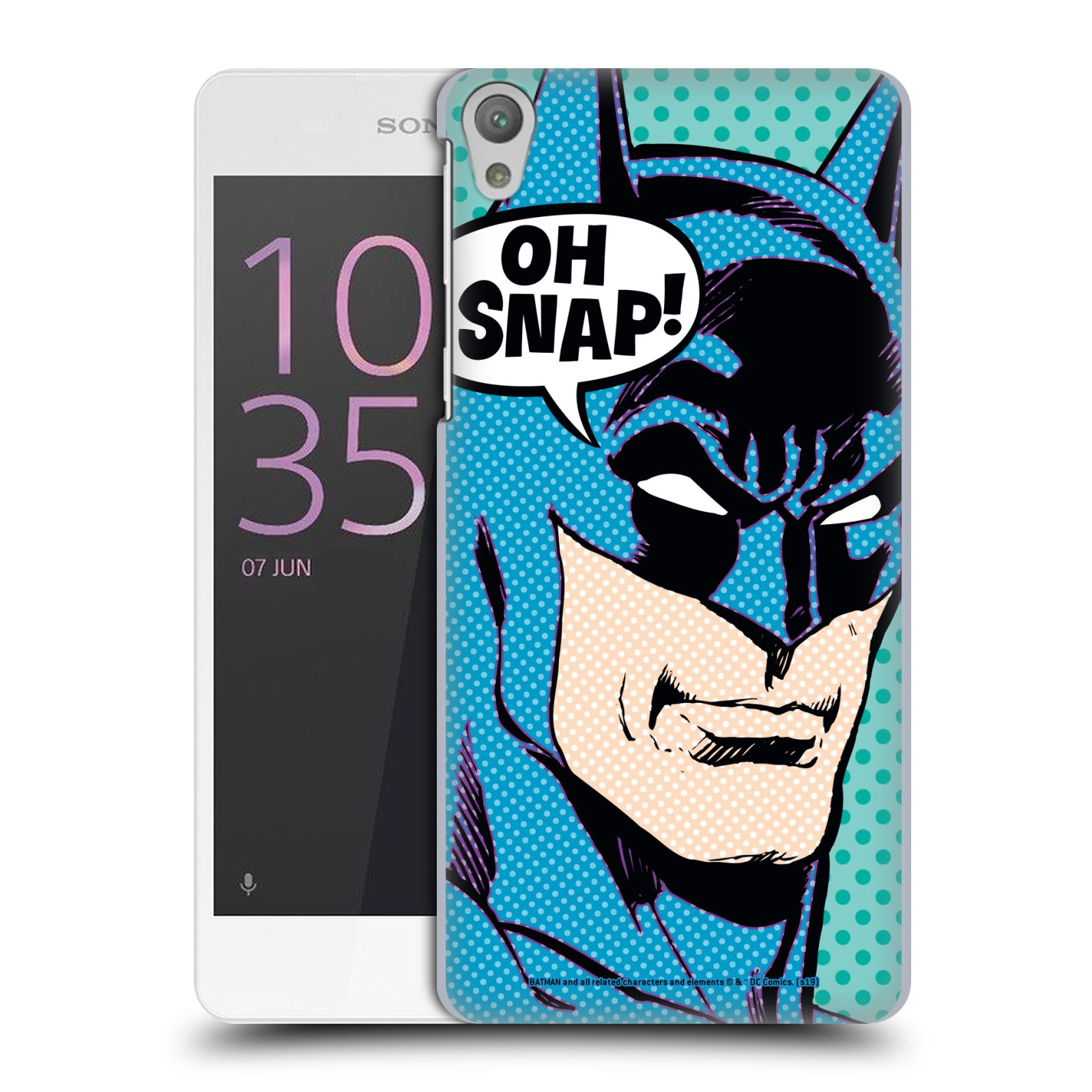 Pouzdro na mobil Sony Xperia E5 - HEAD CASE - DC komix Batman Pop Art tvář