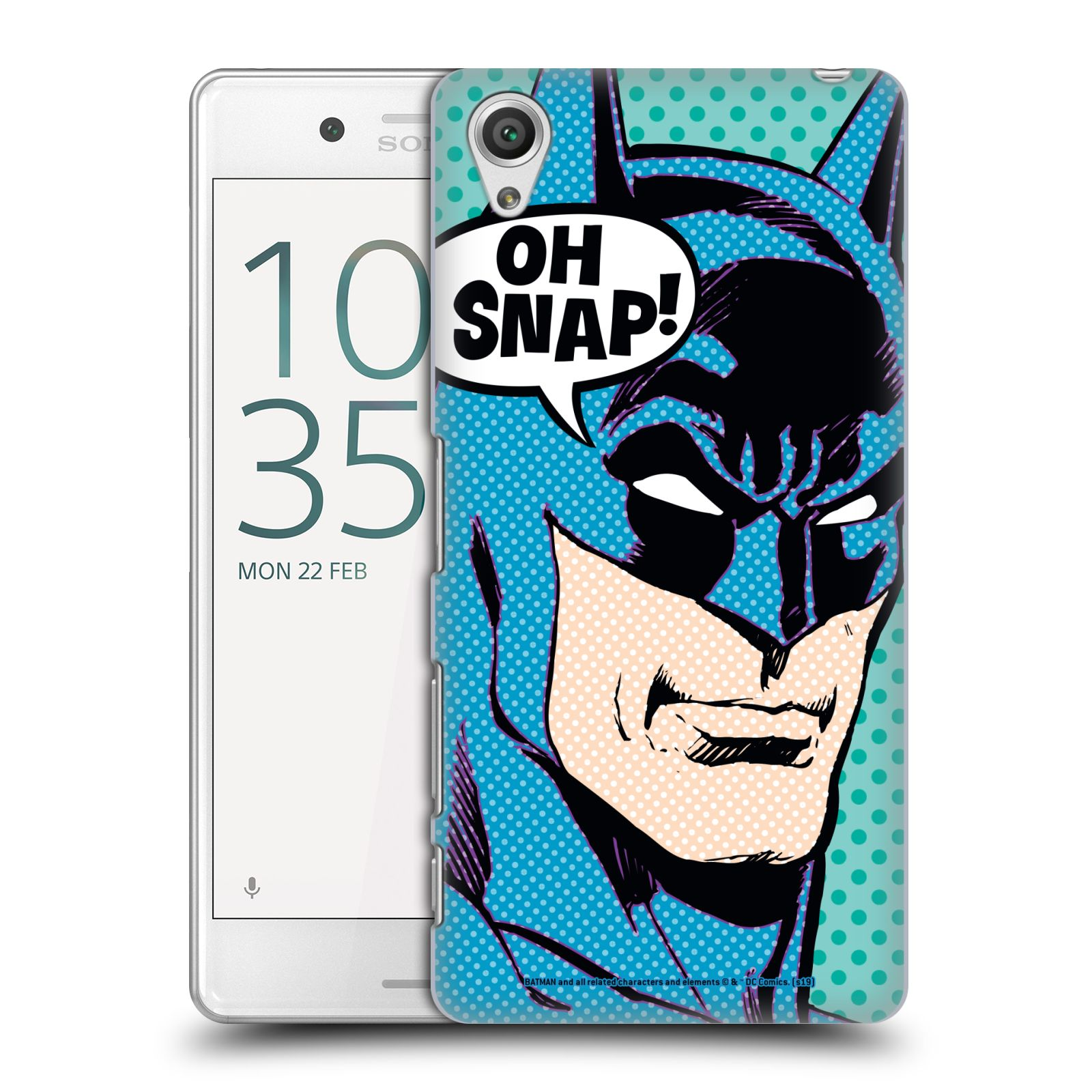 Pouzdro na mobil Sony Xperia X PERFORMANCE - HEAD CASE - DC komix Batman Pop Art tvář