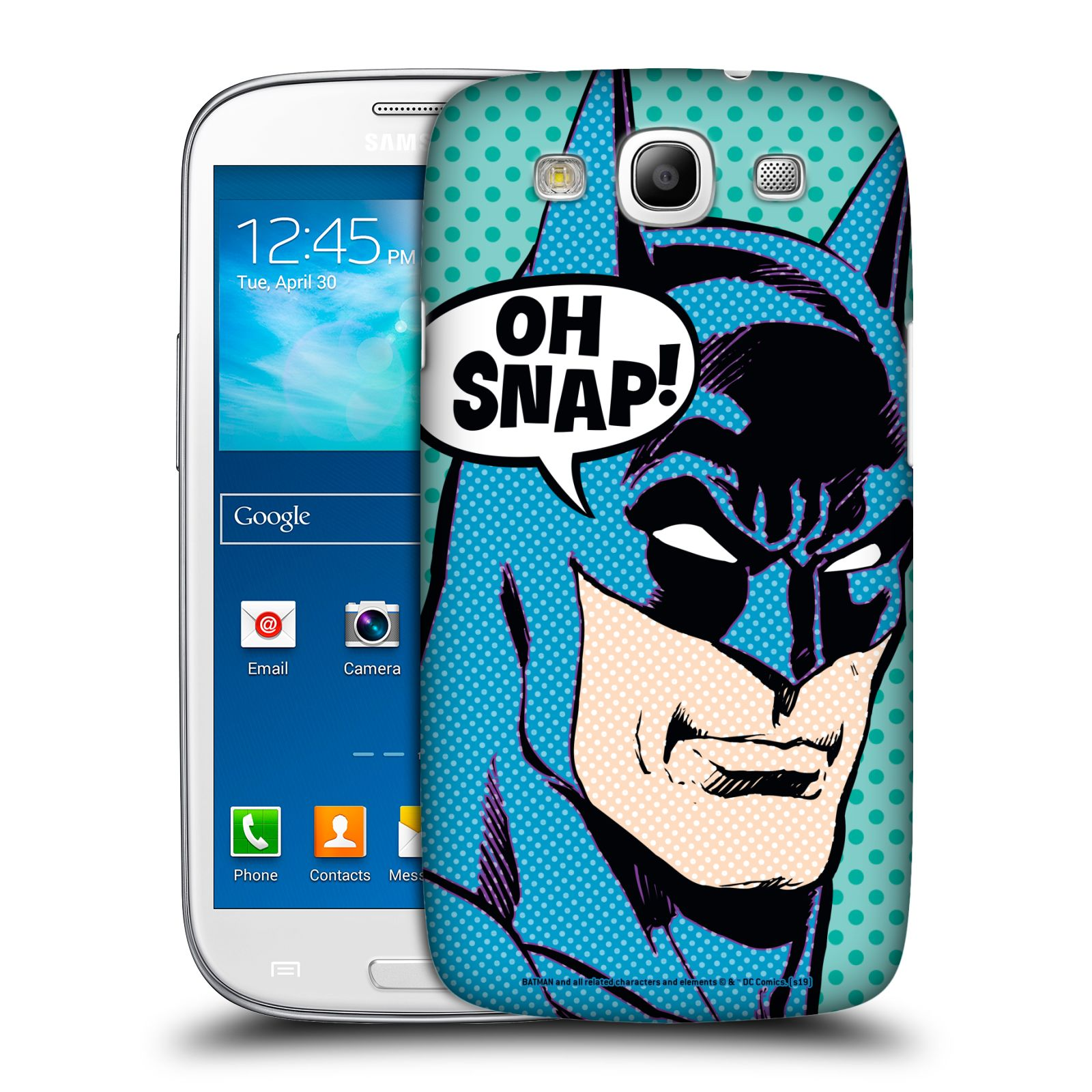 Pouzdro na mobil Samsung Galaxy S3 - HEAD CASE - DC komix Batman Pop Art tvář