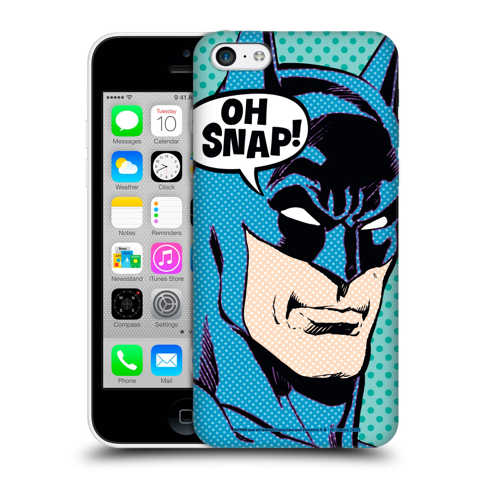 Pouzdro na mobil Apple Iphone 5C - HEAD CASE - DC komix Batman Pop Art tvář